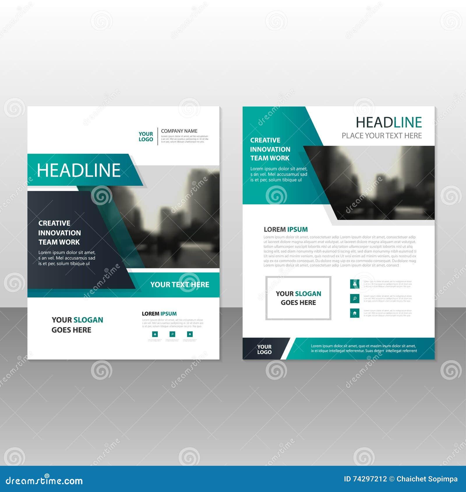 Zielony czarny Wektorowy sprawozdanie roczne ulotki broszurki ulotki szablonu projekt, książkowej pokrywy układu projekt, abstrak