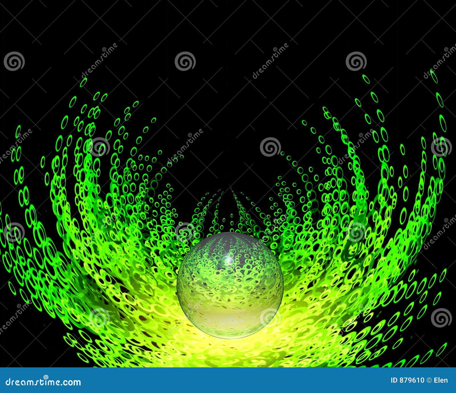 Zielony fantazji mglisty