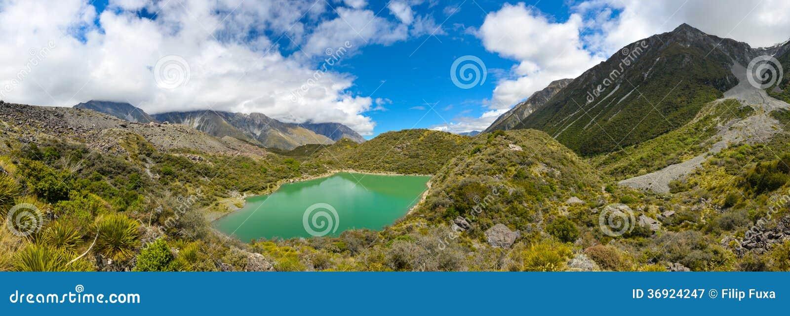 Zielony jezioro