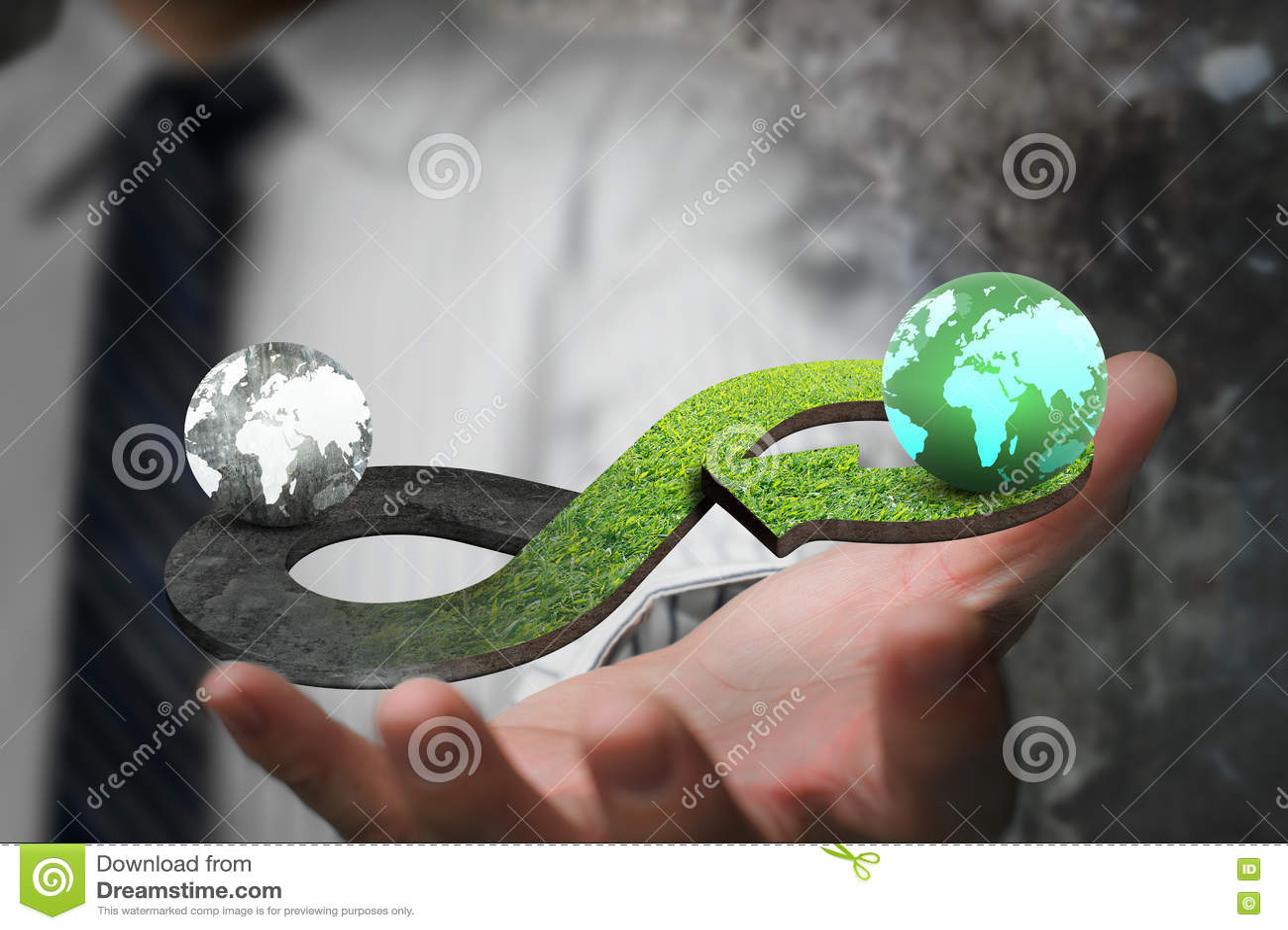 Zielony kółkowy gospodarki pojęcie
