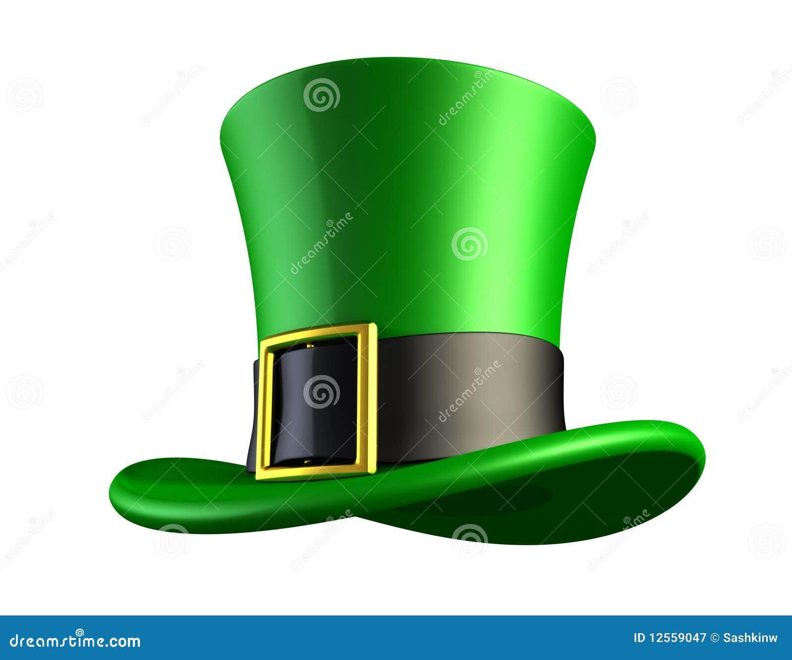 Zielony kapeluszowy leprechaun