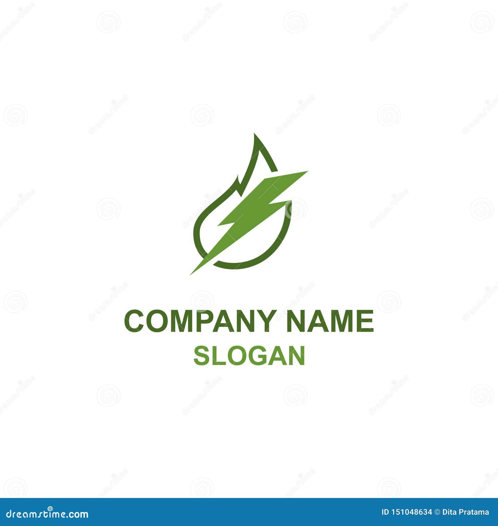 Zielony liść energii logo