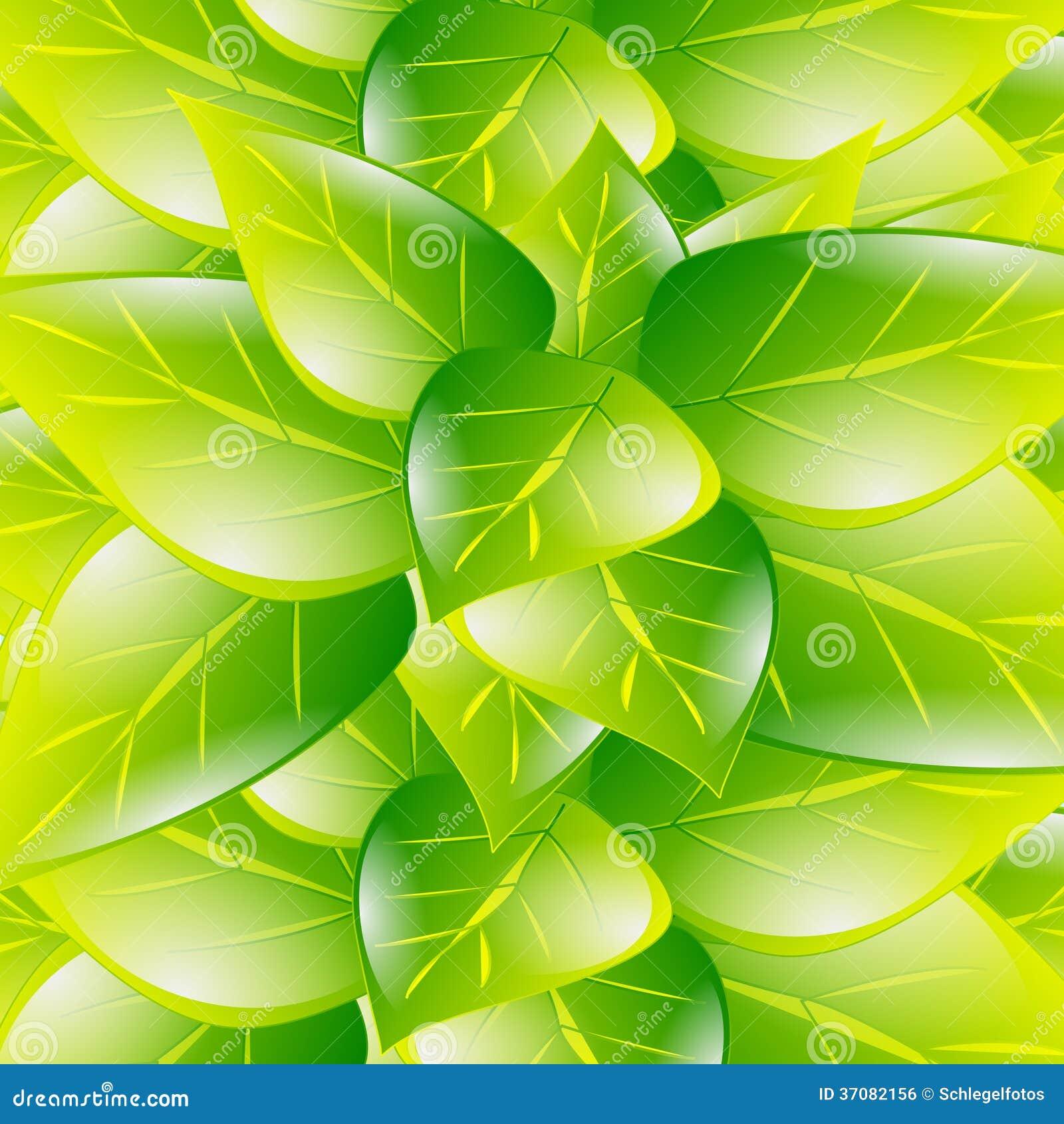 Download Zielony liść wiosny tło ilustracji. Ilustracja złożonej z ilustracje - 37082156