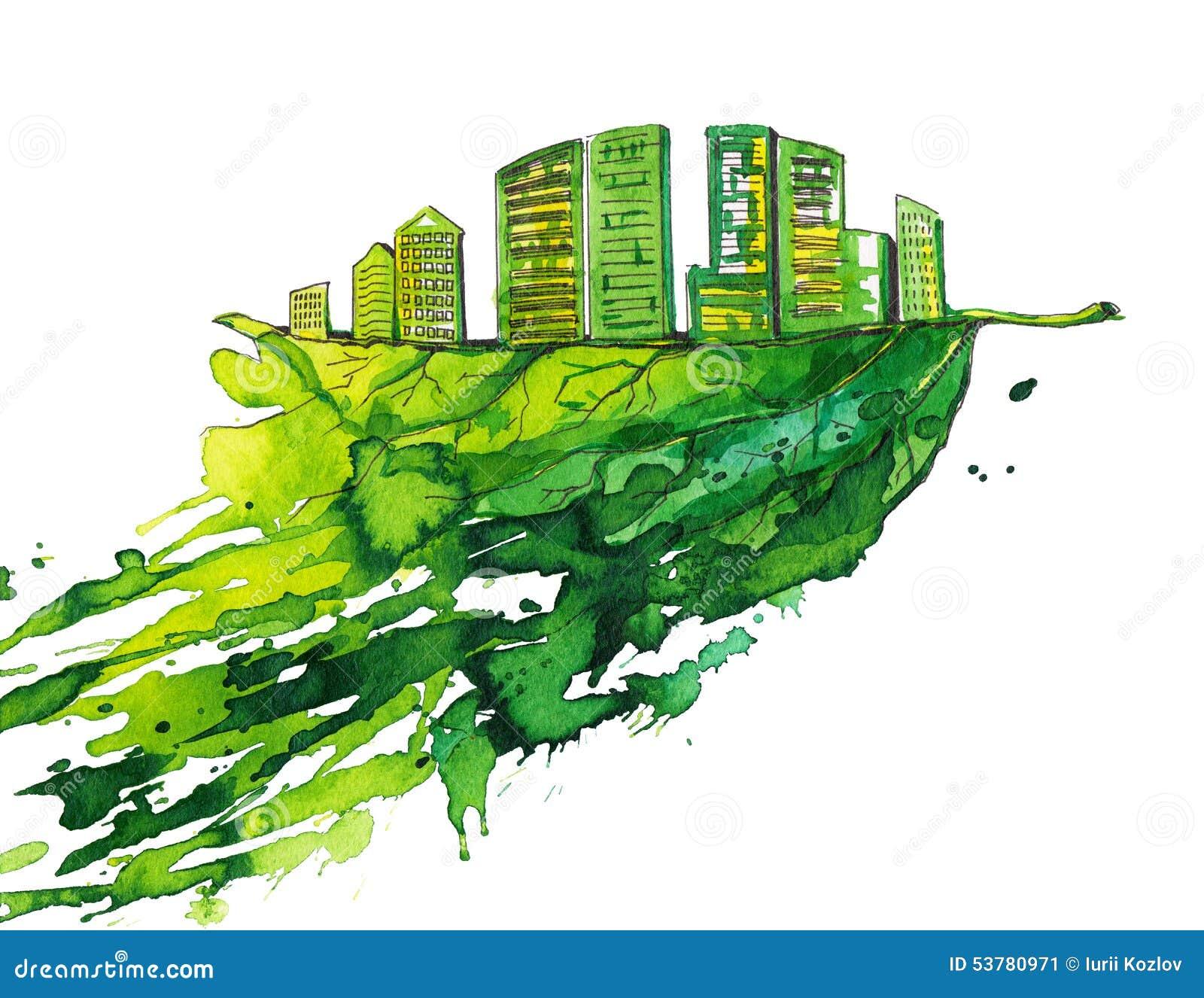 Zielony miasto