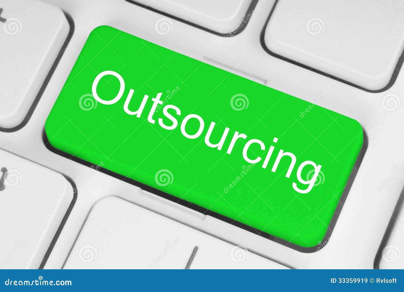 Zielony outsourcingu guzik