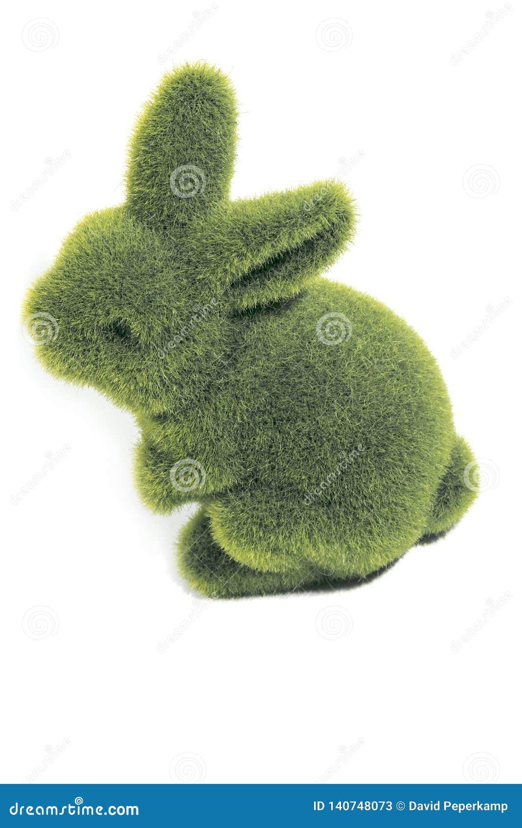 Zielony owłosiony Easter królik