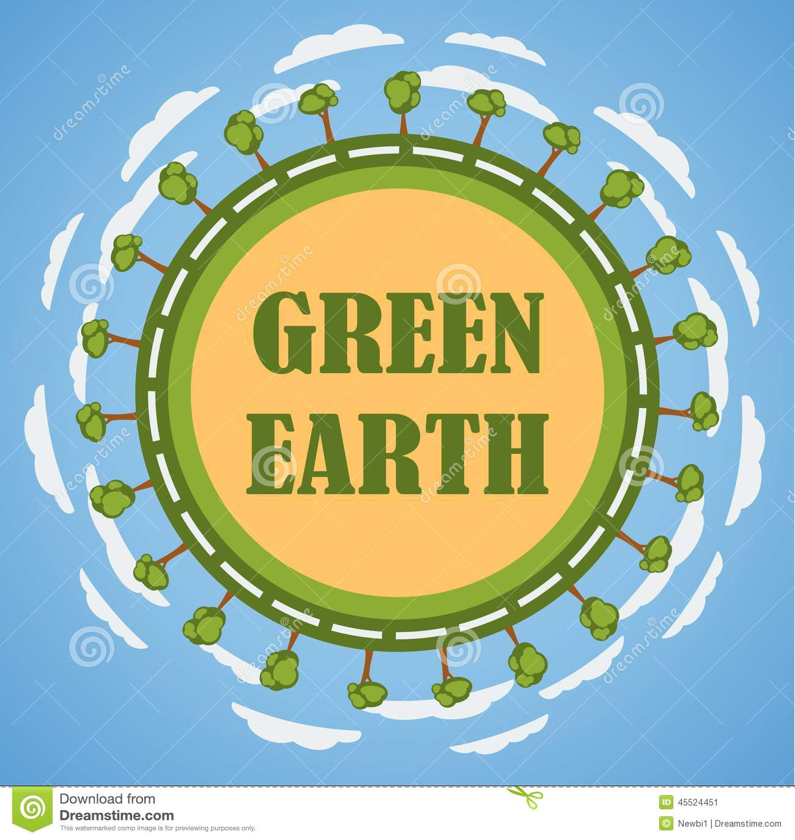 Zielony planety ziemi pojęcie