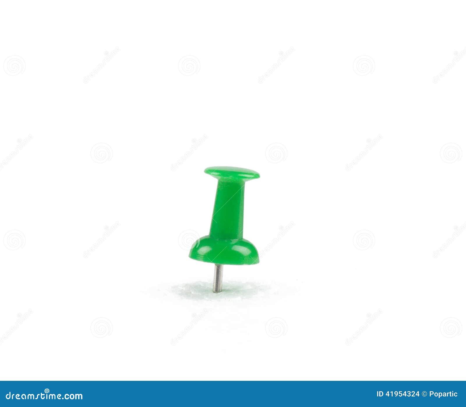 Zielony pushpin