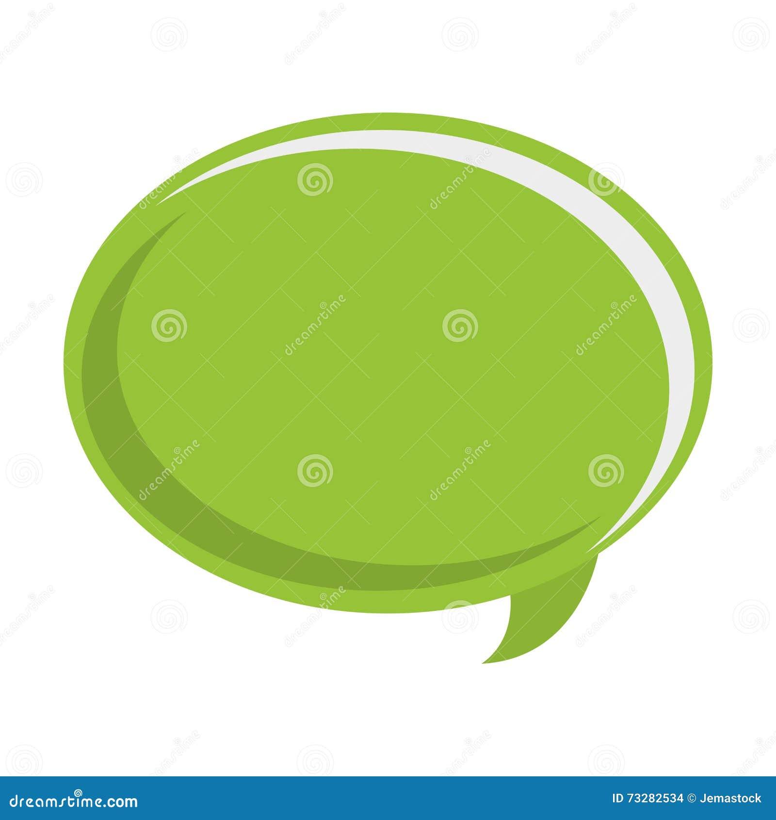Zielony rozmowa bąbel