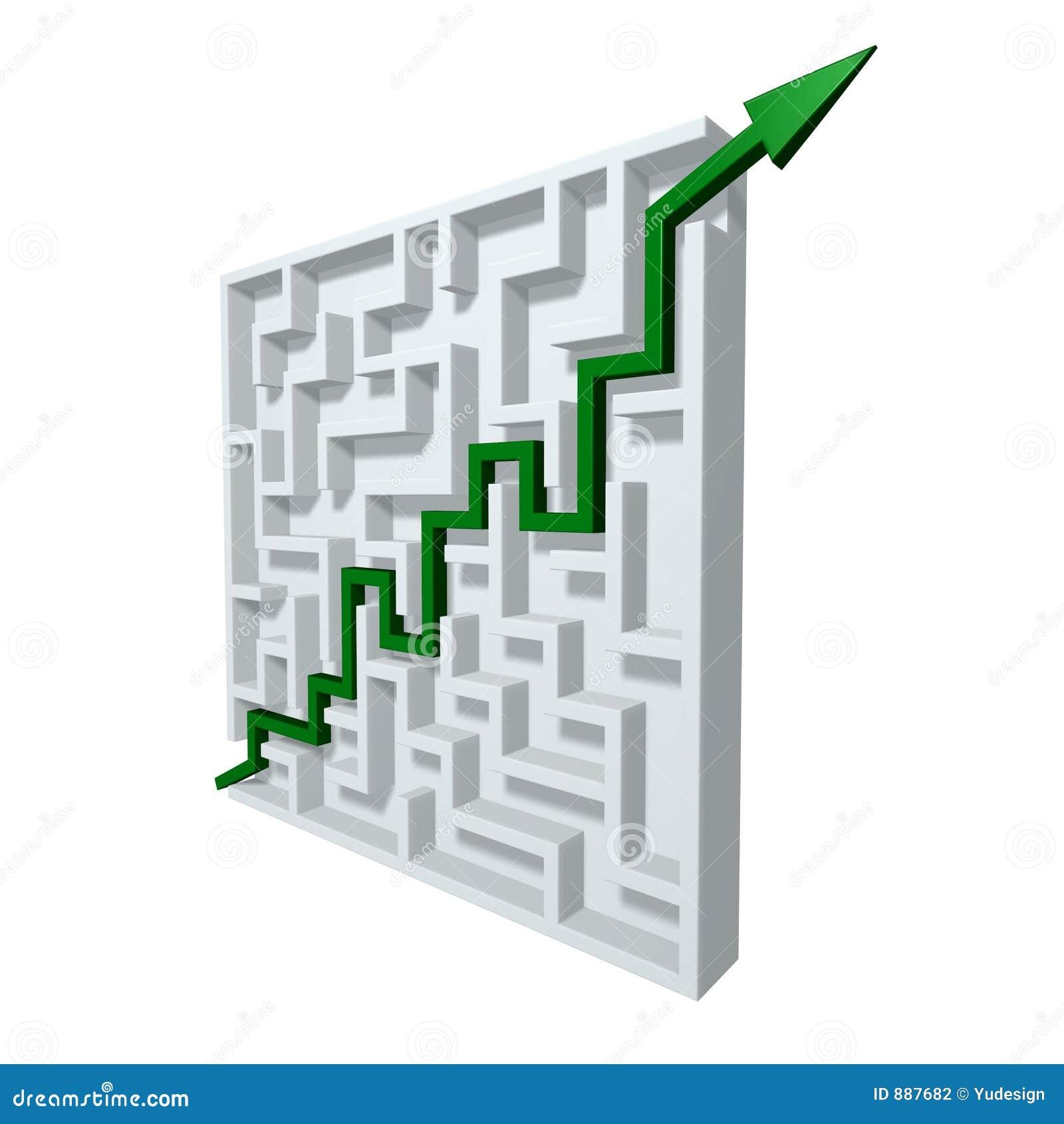Zielony strzała labirynt
