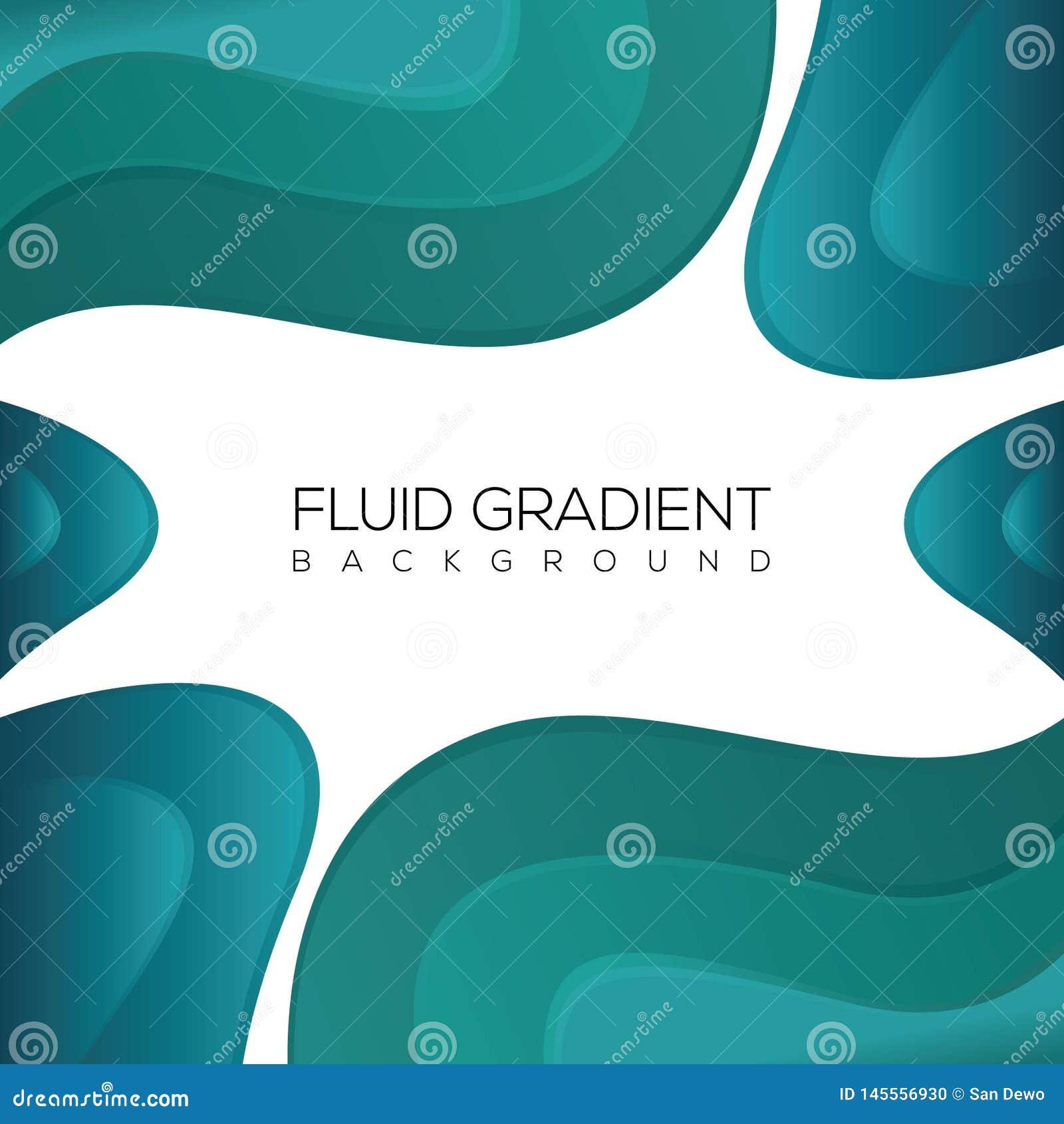 Zielony tło fluid