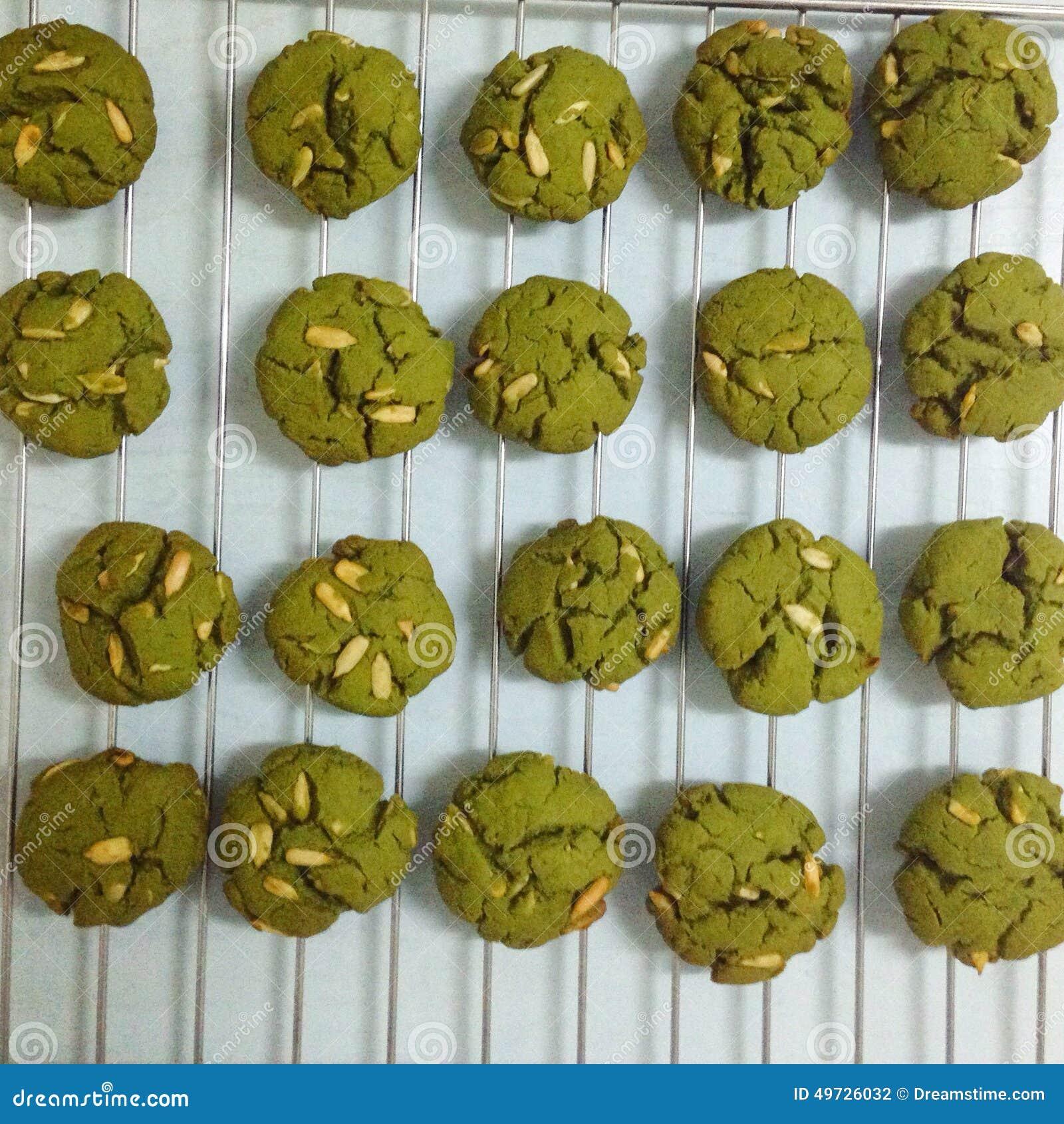 Zielonych herbat ciastka z migdałem