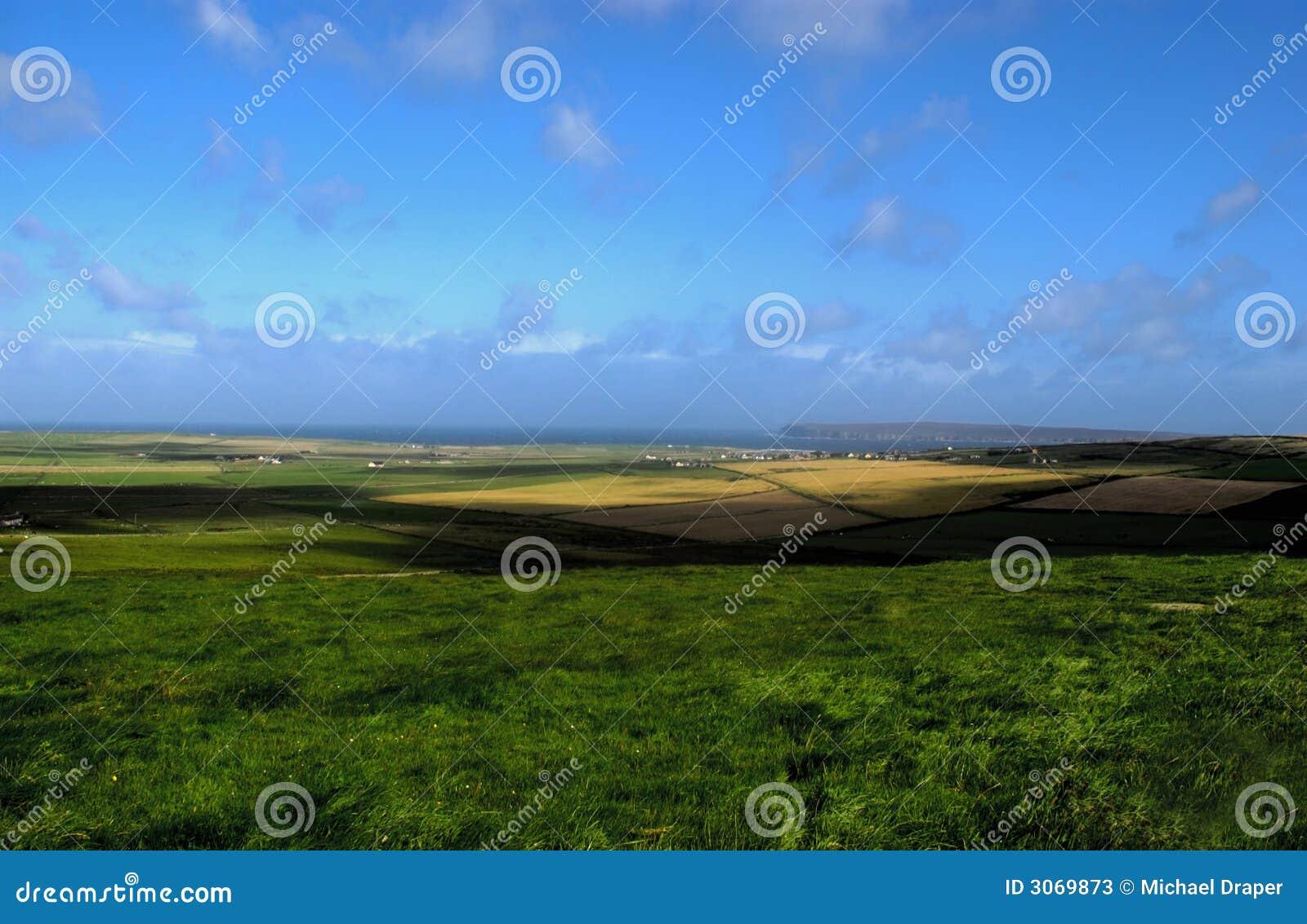 Ziemia blisko morza rolnej