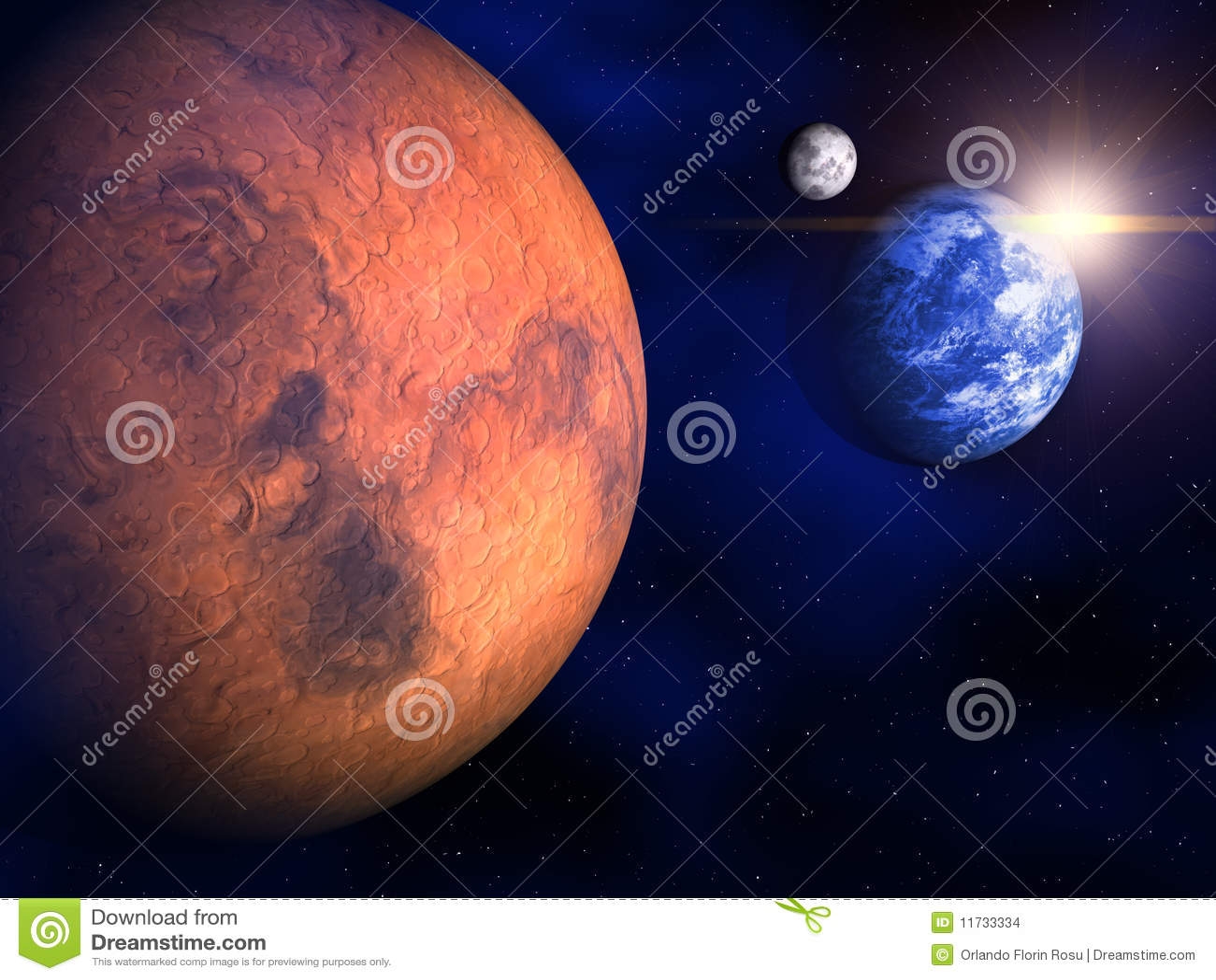 Ziemia mąci księżyc