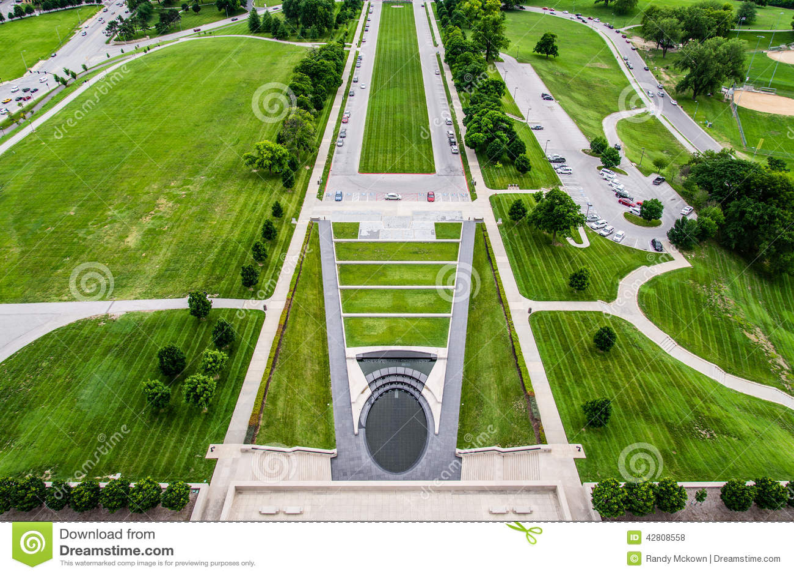 Ziemie przy swoboda pomnikiem w Kansas City Missouri