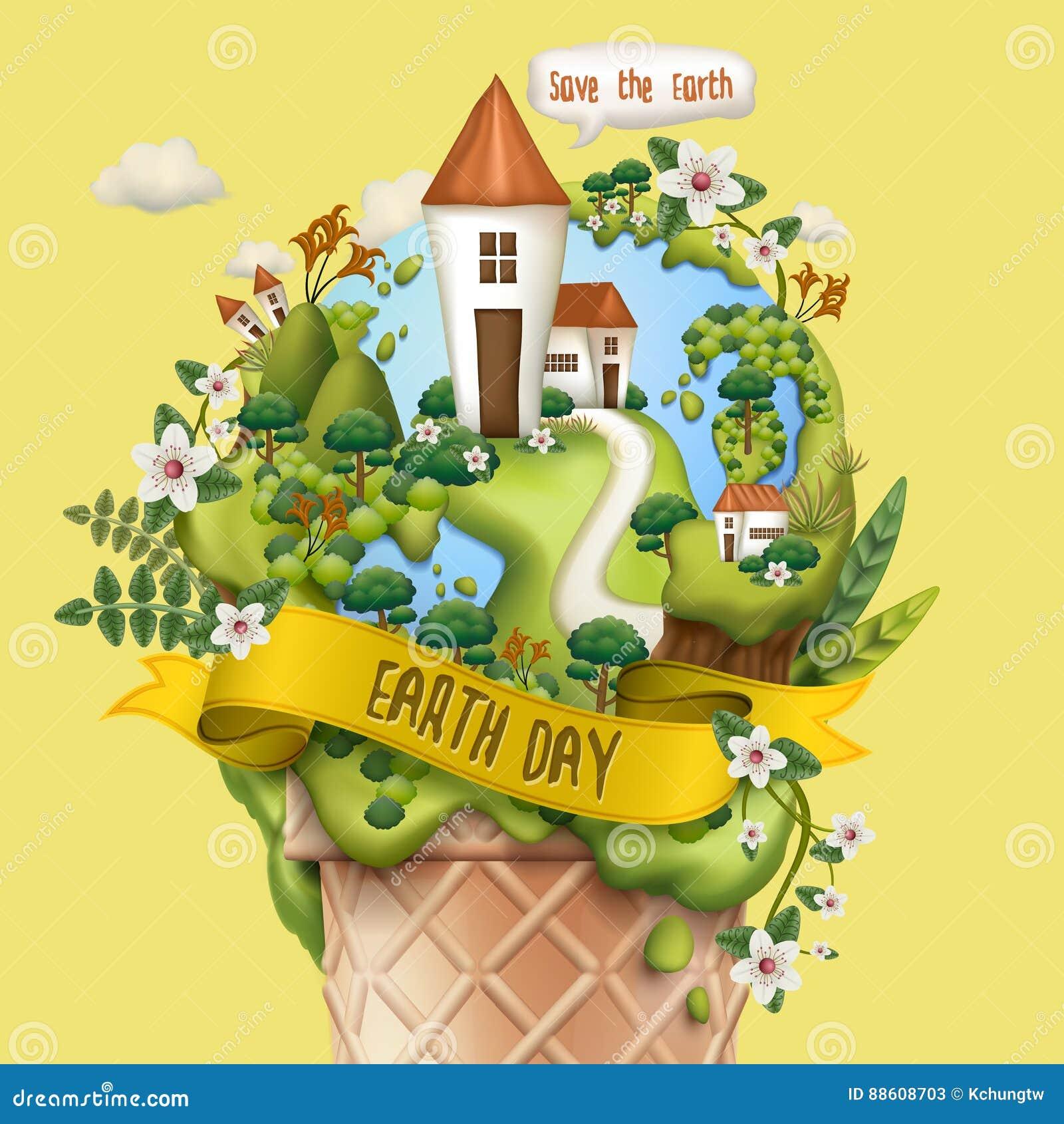 Ziemskiego dnia ilustracja