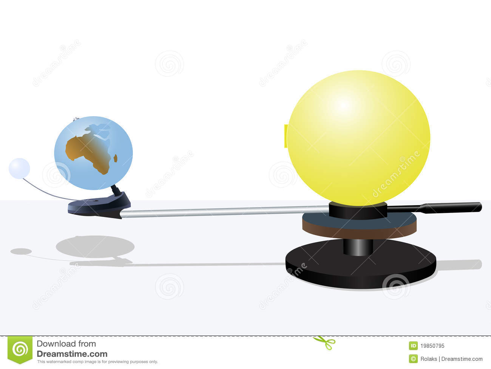 Ziemskiego modela słońce