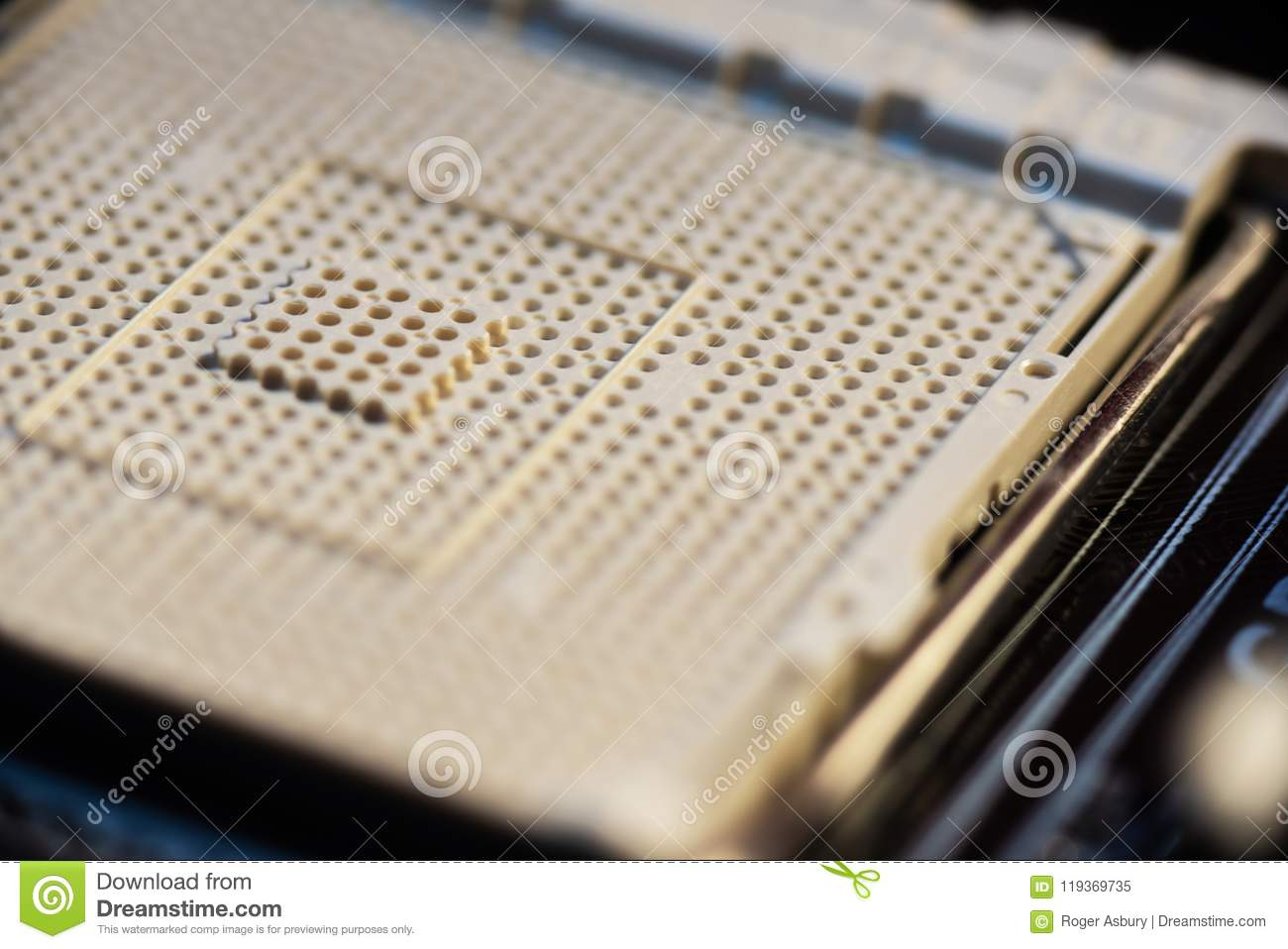 Zif Socket On Motherboard Stock Image Of Insertion 119369735 Connector And