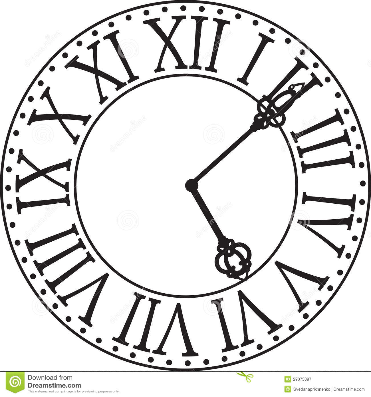 clock clipart black and white free - photo #42