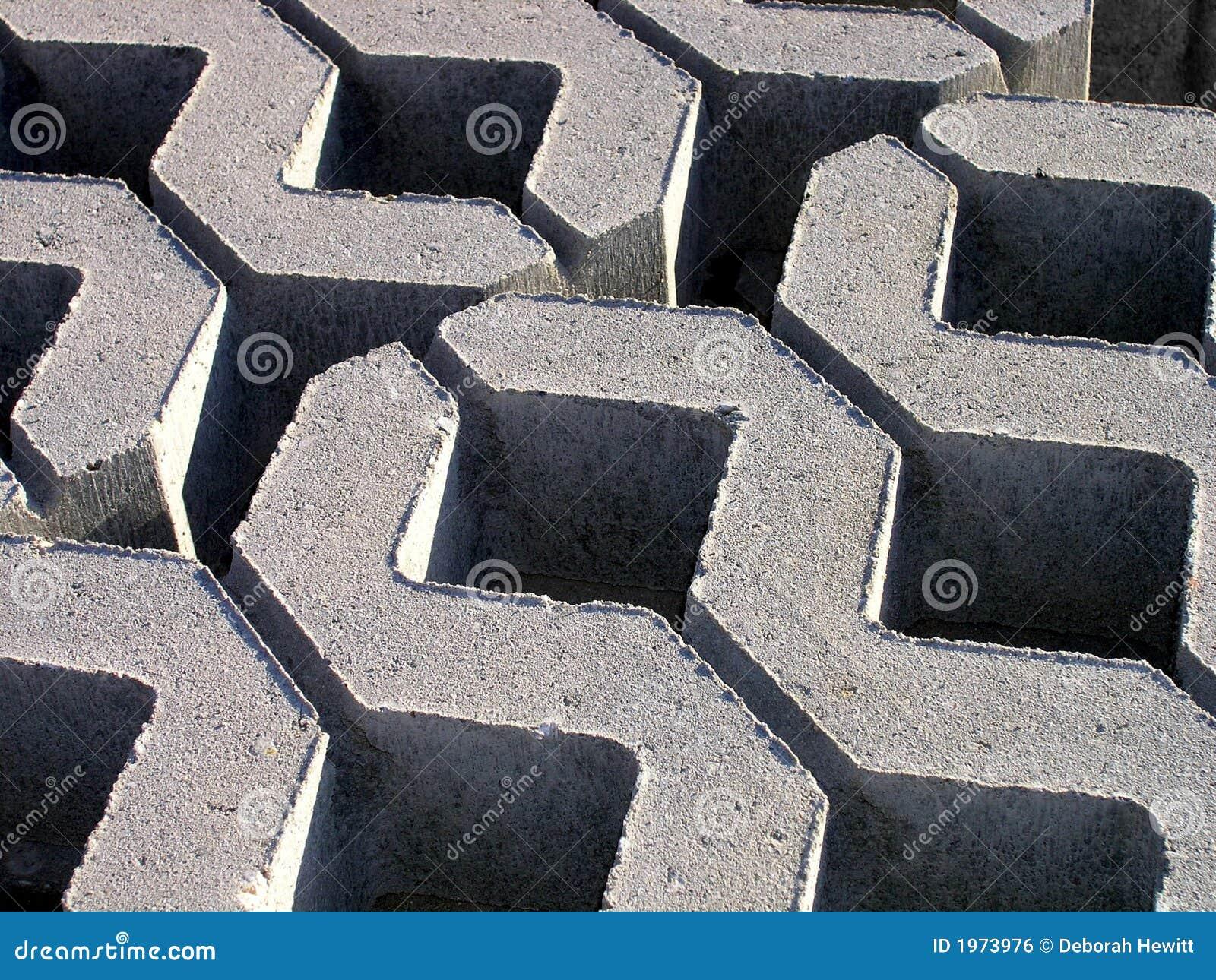 Concrete Building Blocks : Zig zag concrete building blocks royalty free stock image