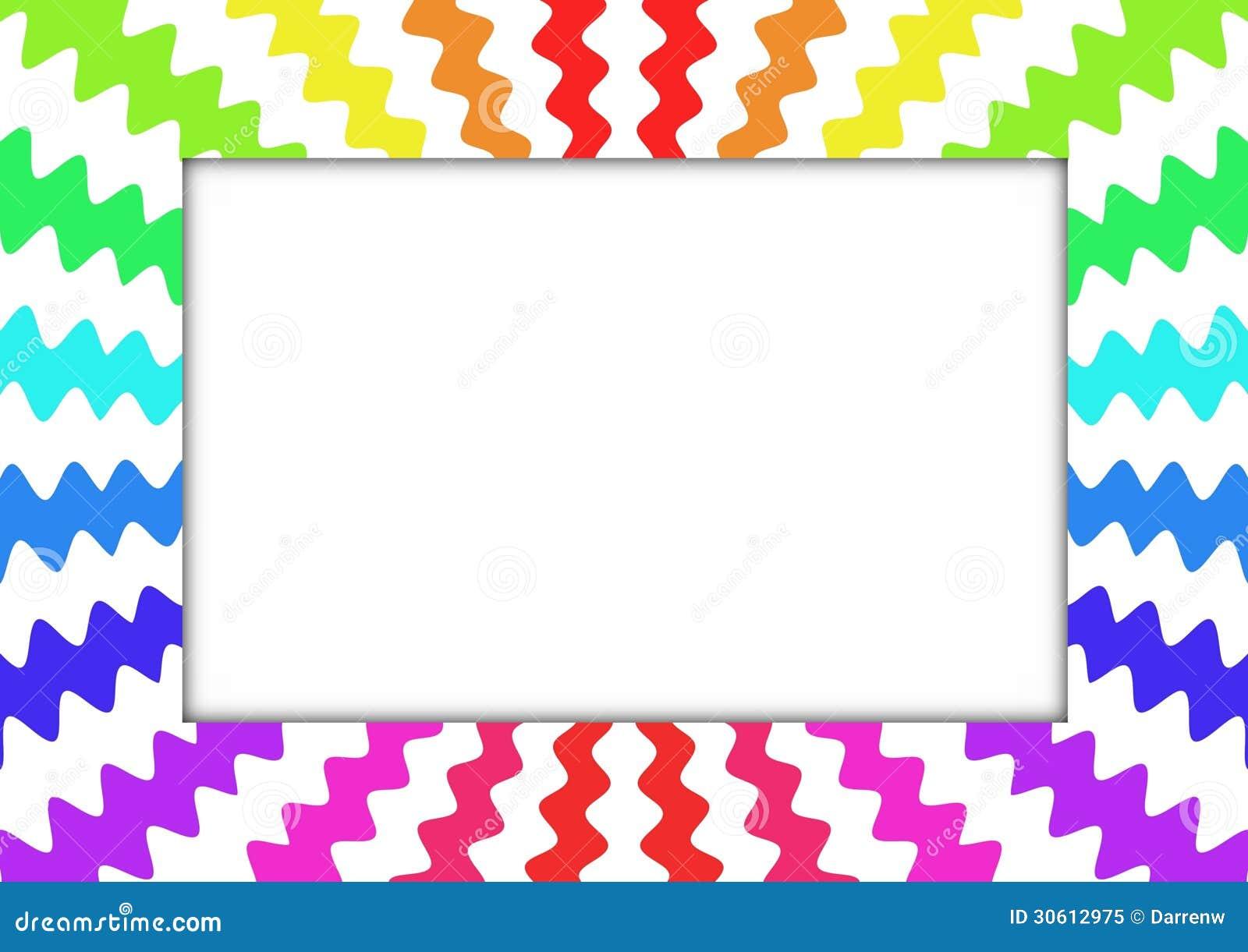 Zig Zag Rainbow Frame Stock Illustration Illustration Of