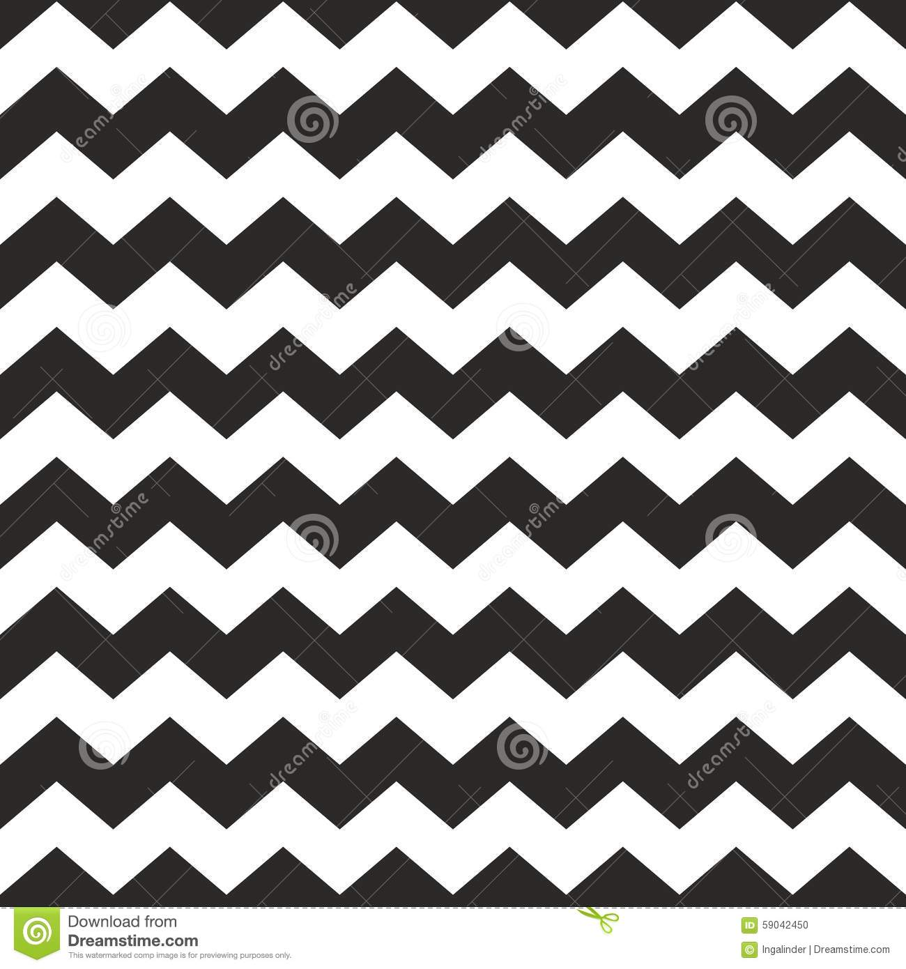 Zig Zag Vector Chevron Black And White Tile Pattern Stock Vector ...