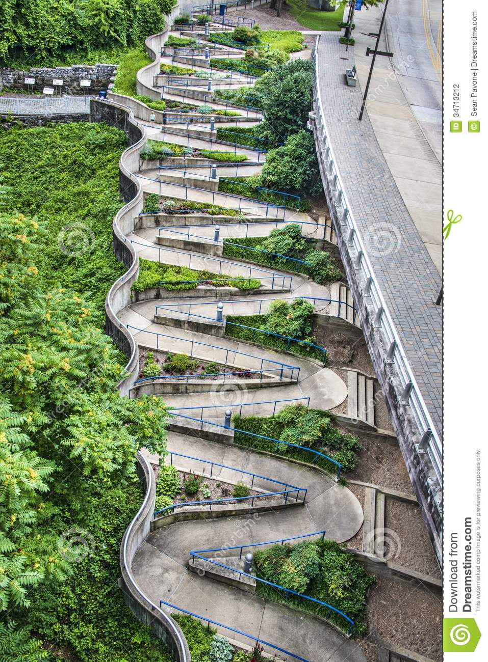 Zig Zag Walkway Stock Photography Image 34713212