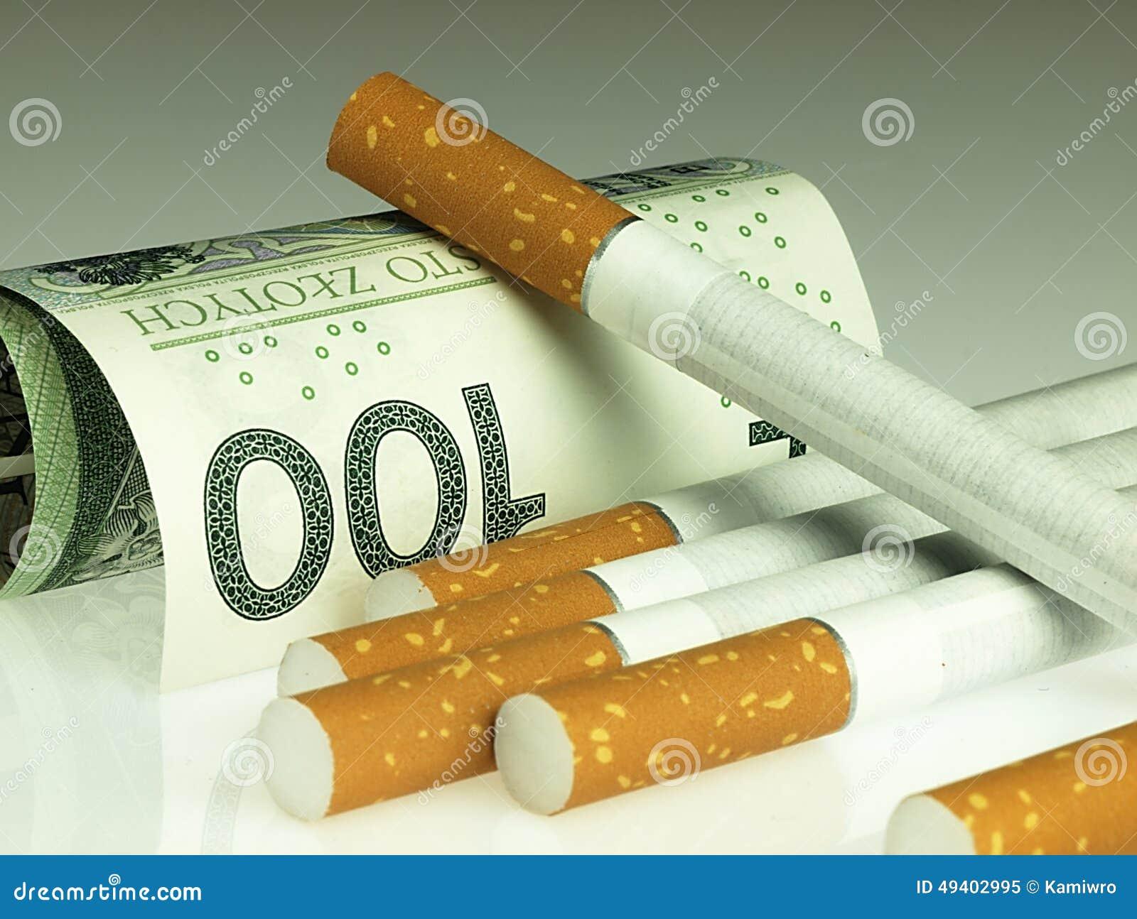 Download Zigaretten Und Geld Teure Gewohnheit Stockbild - Bild von nahaufnahme, kostspielig: 49402995