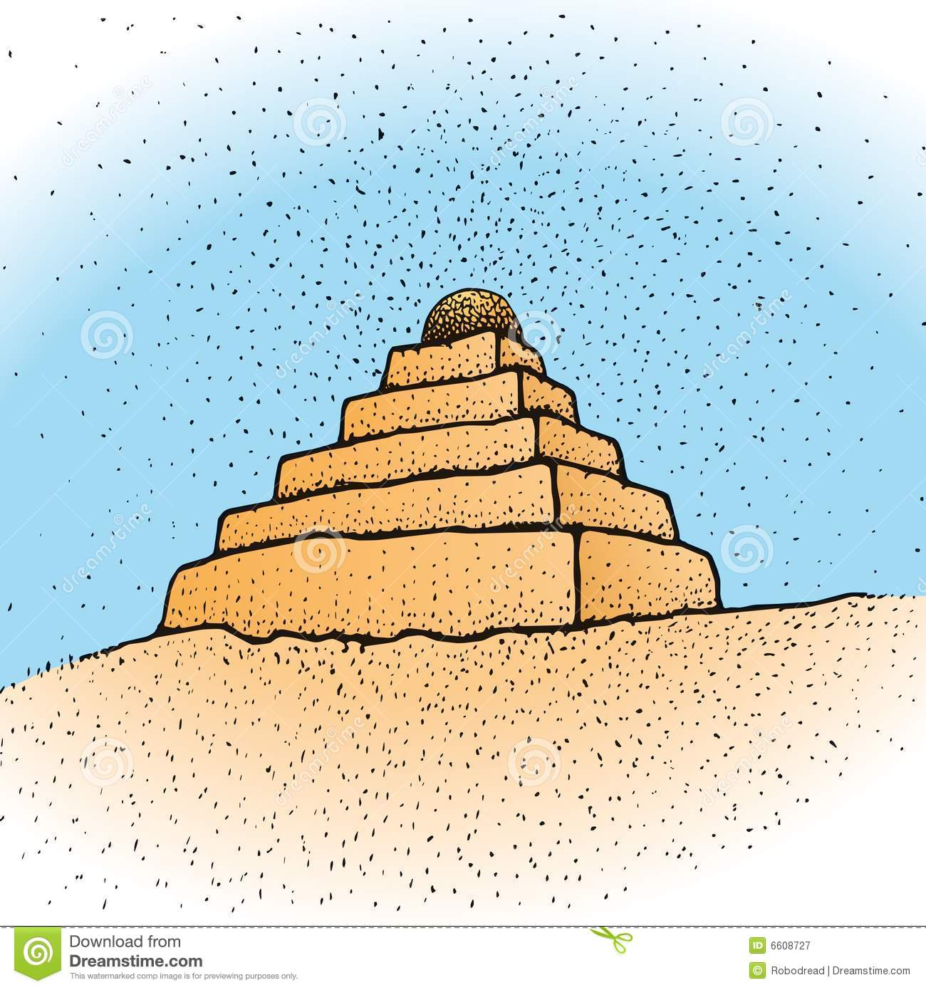 ziggurat vector stock vector illustration of