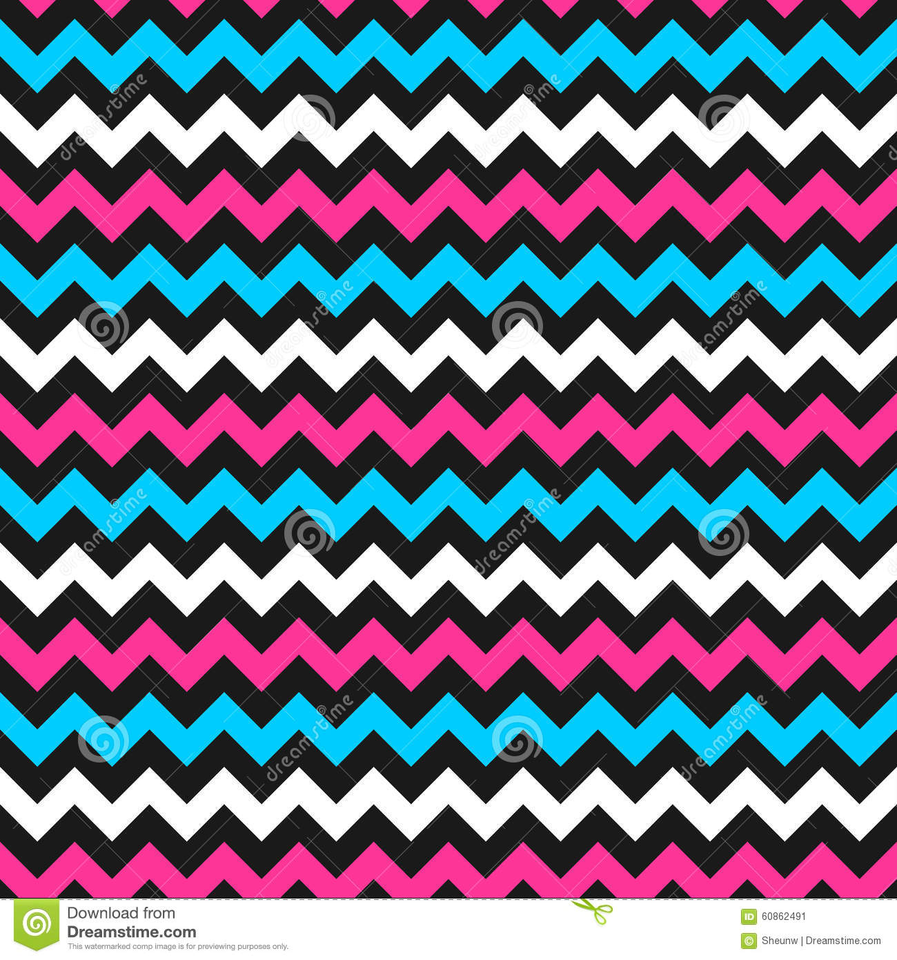 Zigzag Color Pattern Stock Vector Illustration Of