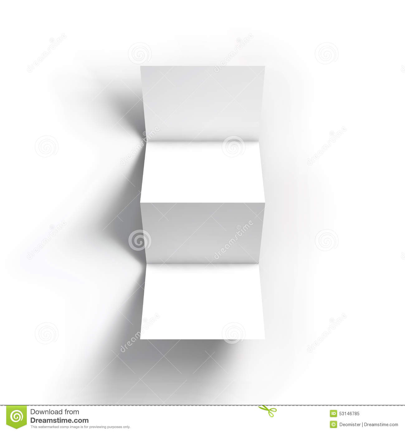 Zigzag four brochure mockup template stock vector image for Four page brochure template