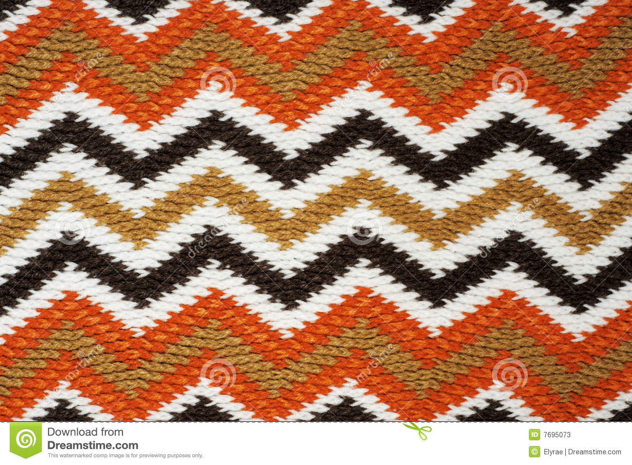 Knitting Works : Zigzag knitting work stock photos image
