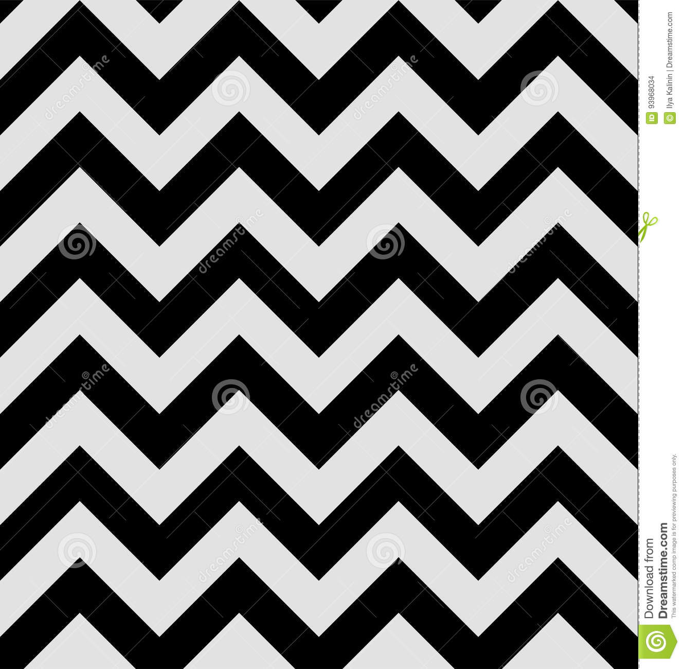 Zigzag Pattern Is In The Twin Peaks Style Hypnotic Textile