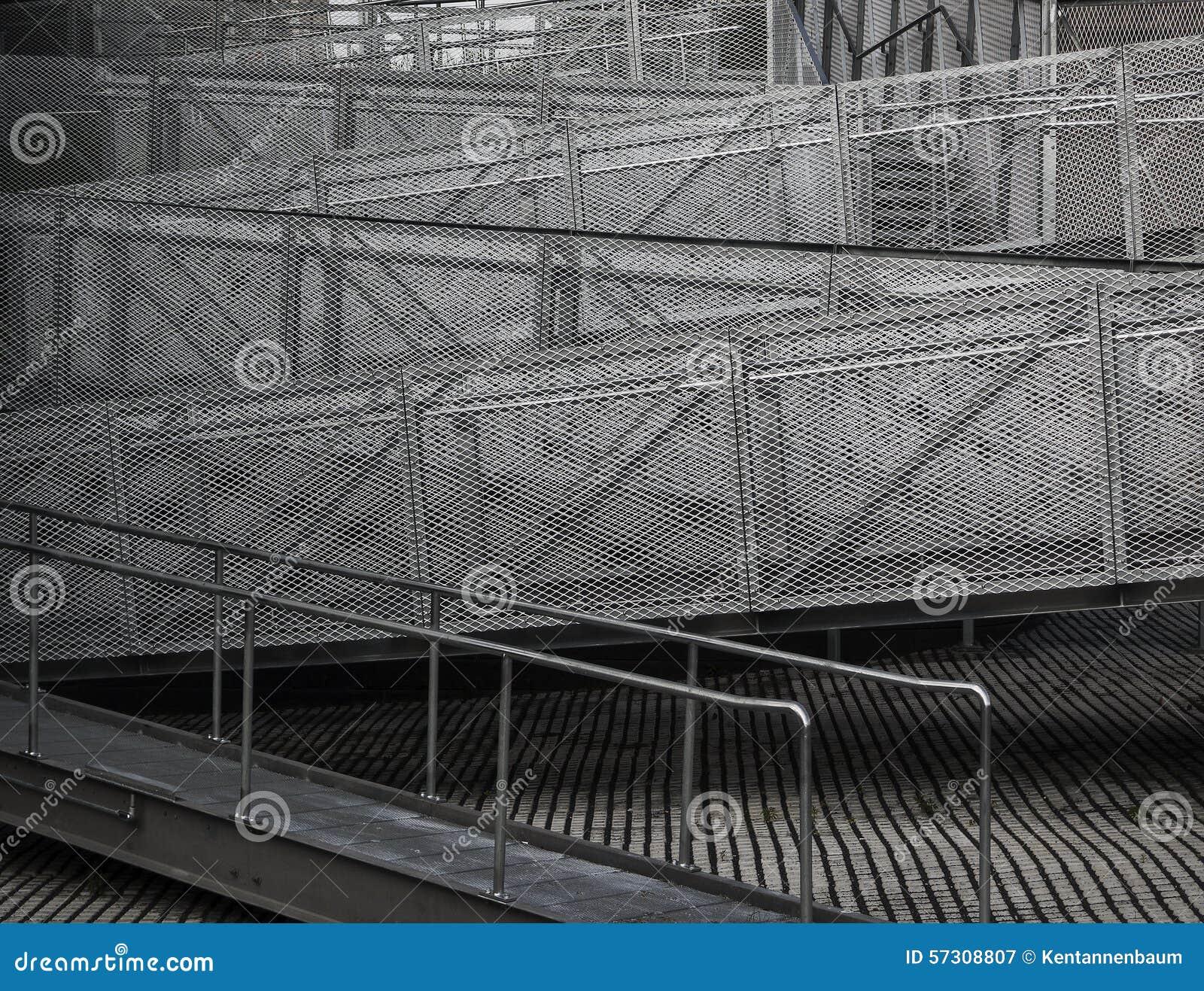 Zigzag Staircase Stock Photo