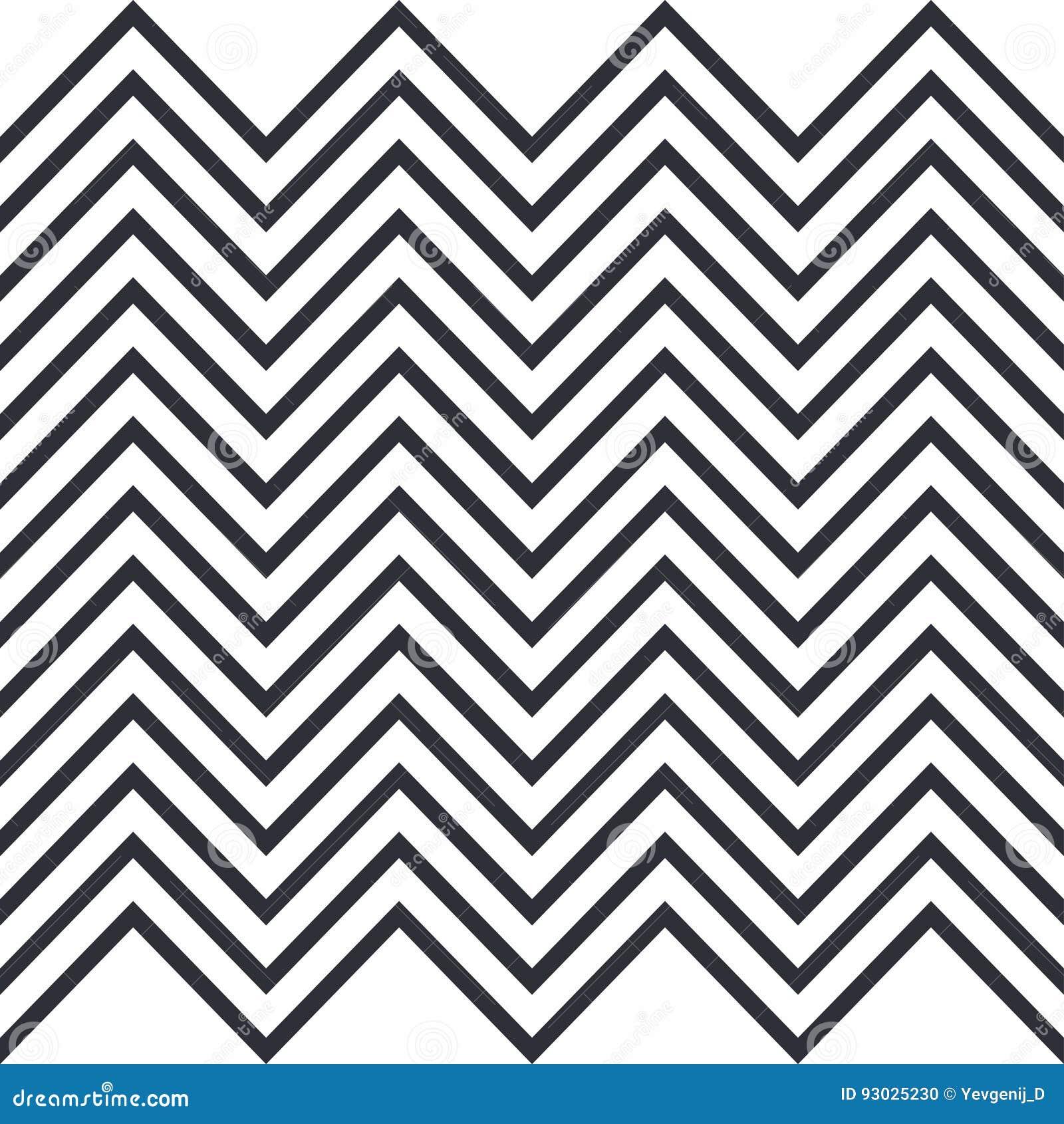 Zigzag Teste padrão horizontalmente sem emenda para listras