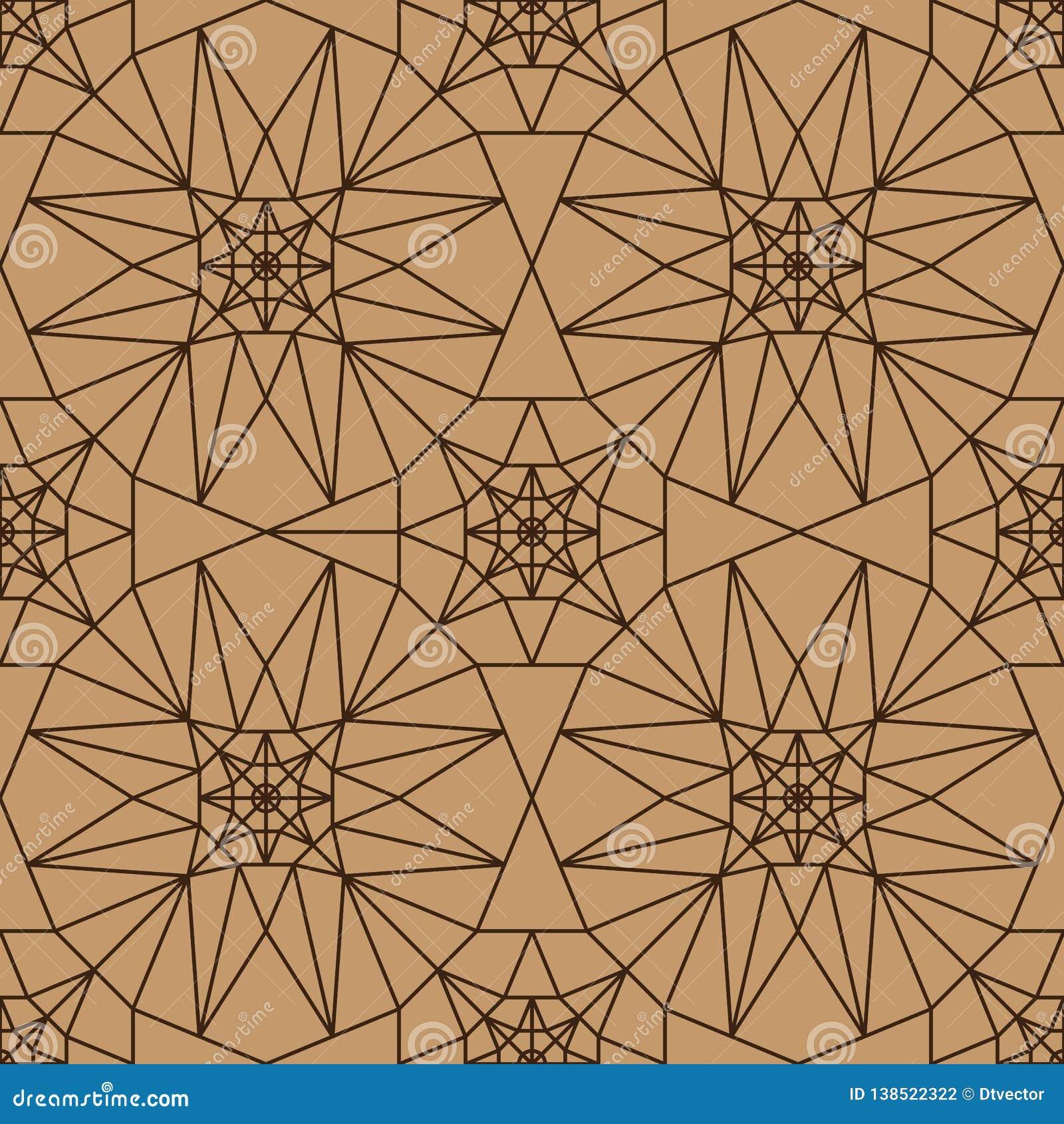 8 zij de symmetrie naadloos patroon van de ster bruin kleur