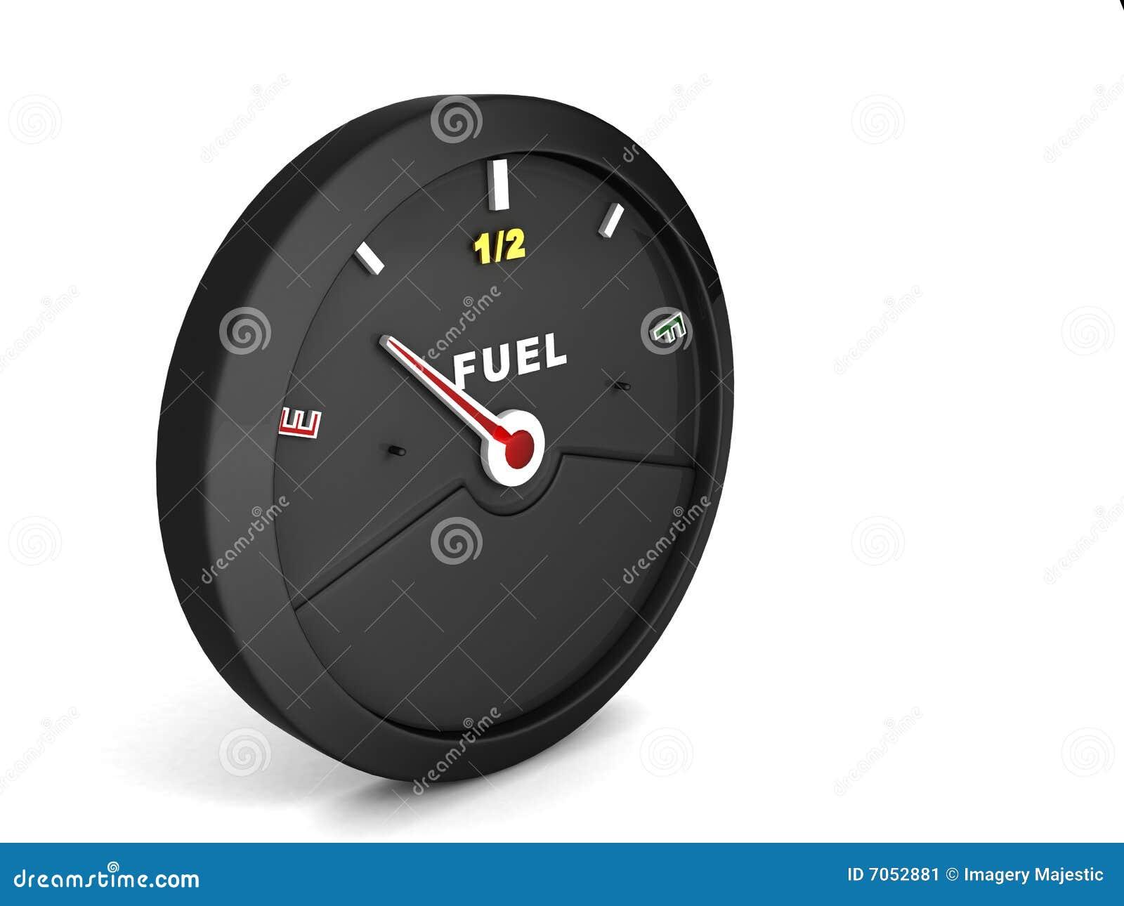 Zijaanzicht van brandstofmeter