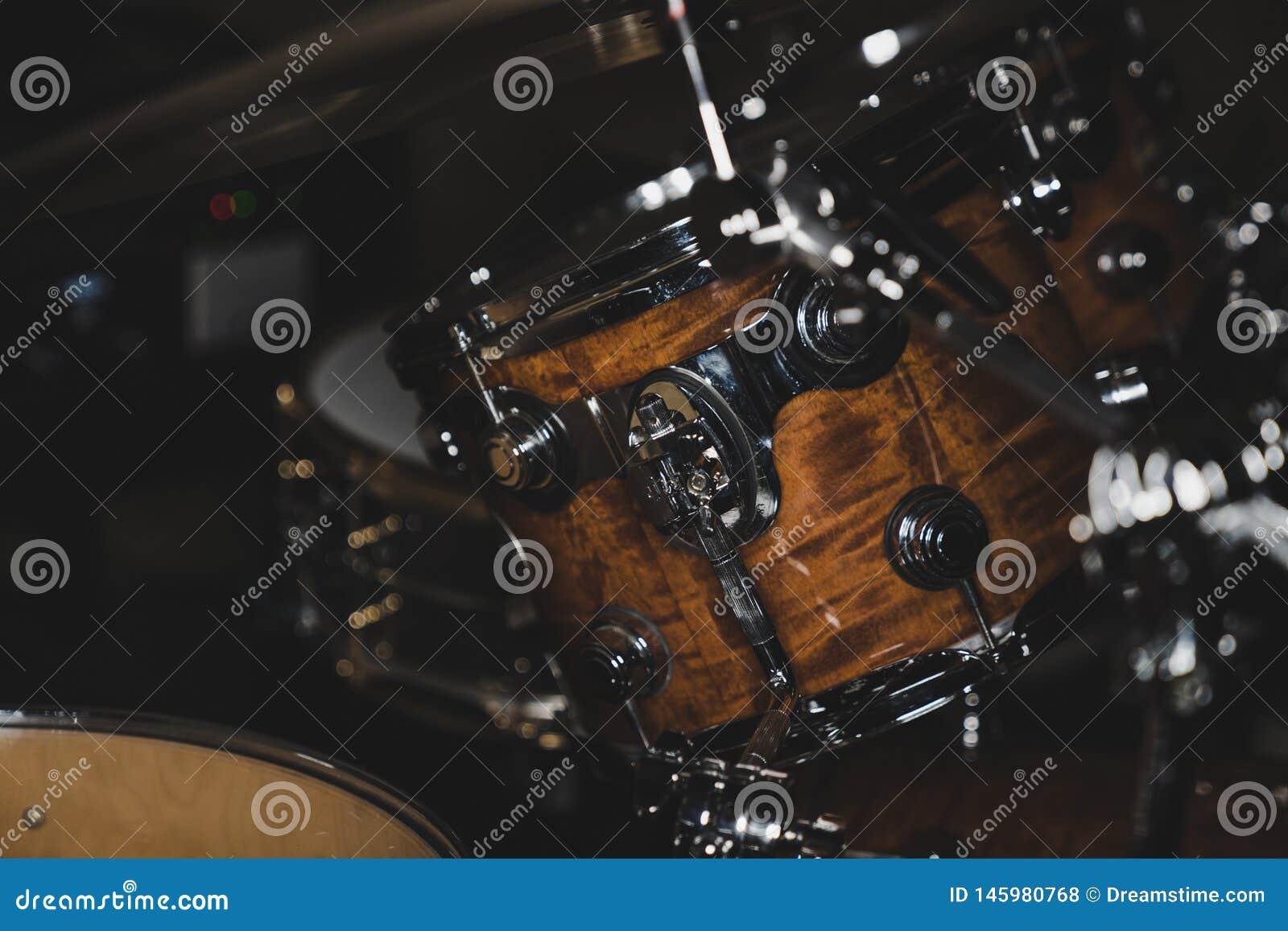 Zijaanzicht van een Trommeluitrusting