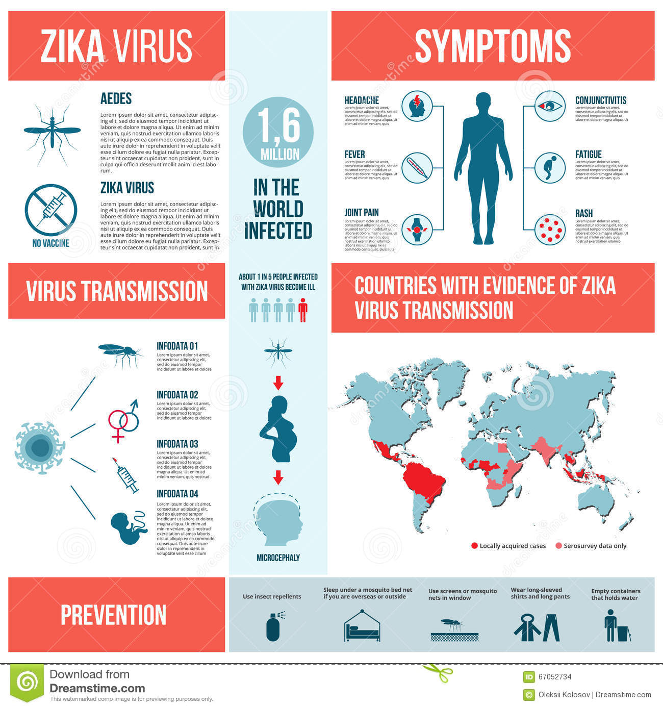 zika virus infographics  stock vector