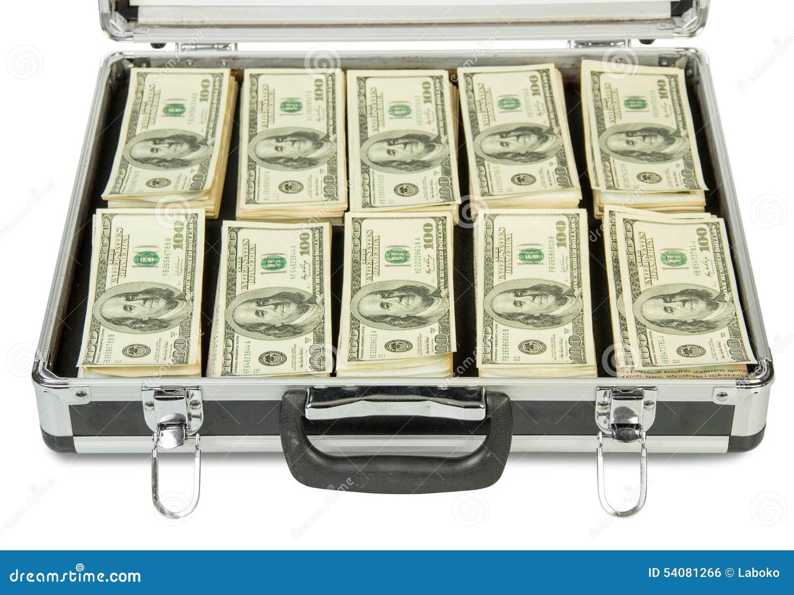 Zilveren geval met geld