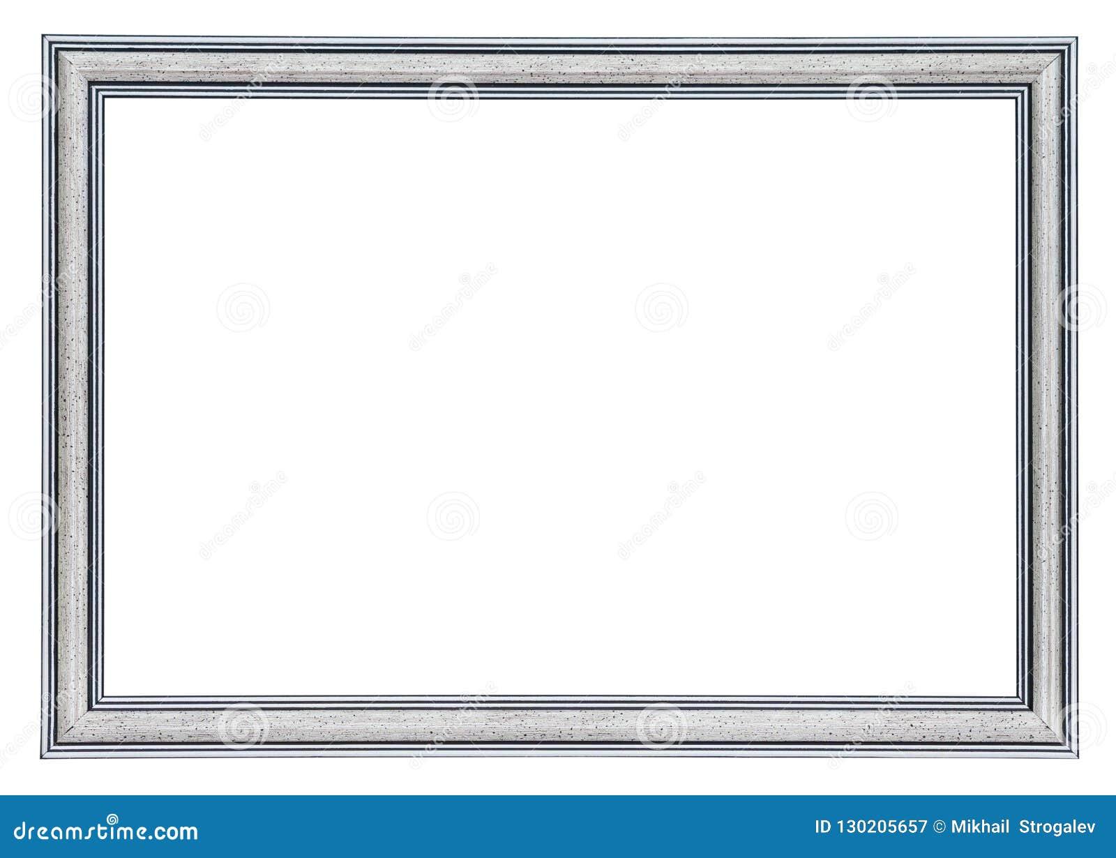 Zilveren kader met zwarte grenzen buiten en binnen, geïsoleerd