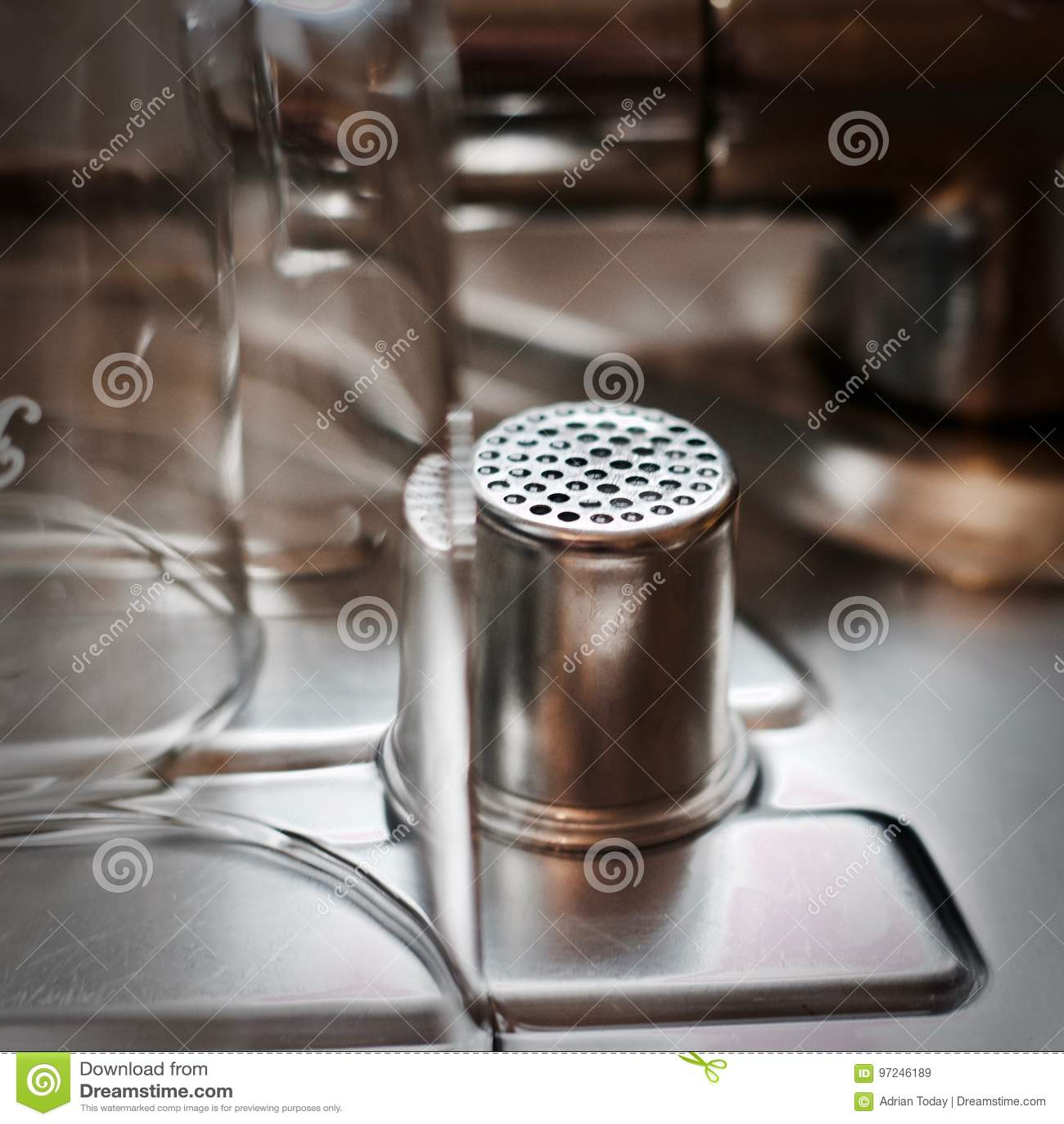 Zilveren knoflookzeef