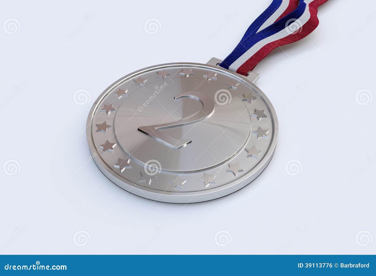 Zilveren medaille met aantal