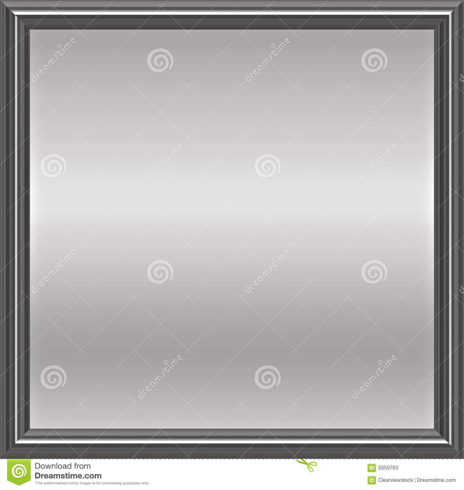 Zilveren Metaal Frame Plaque Stock Illustratie - Illustratie ...