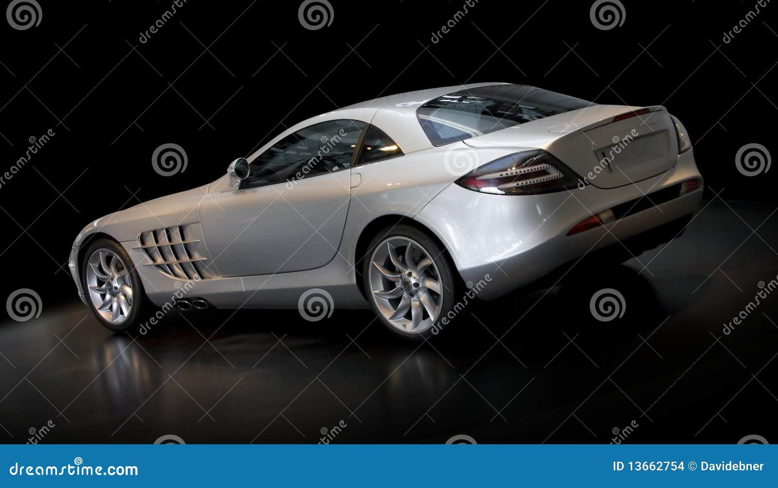 Zilveren Sportwagen 3/4 Achtergedeelte