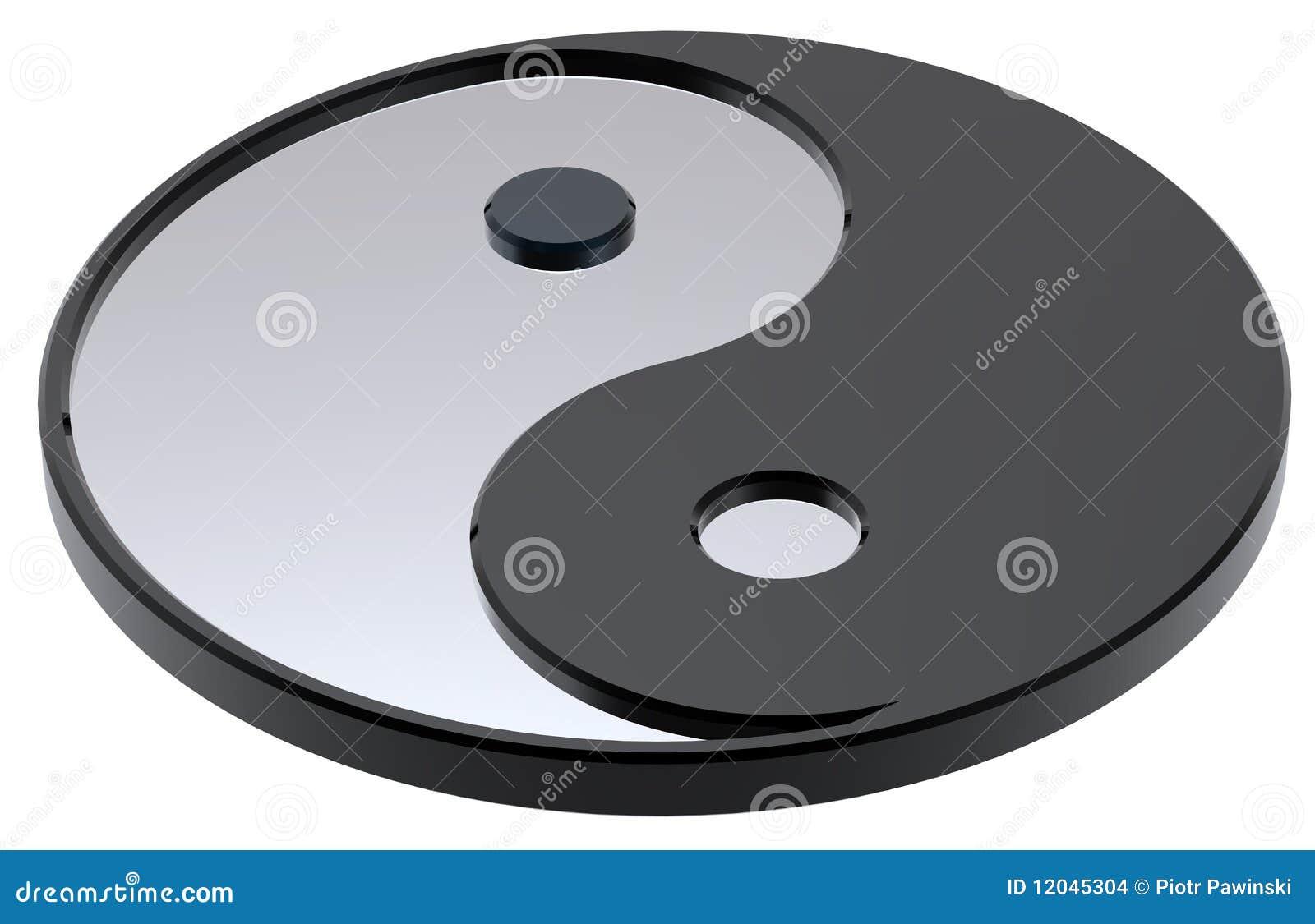 Zilveren yin-Yang, symbool van harmonie