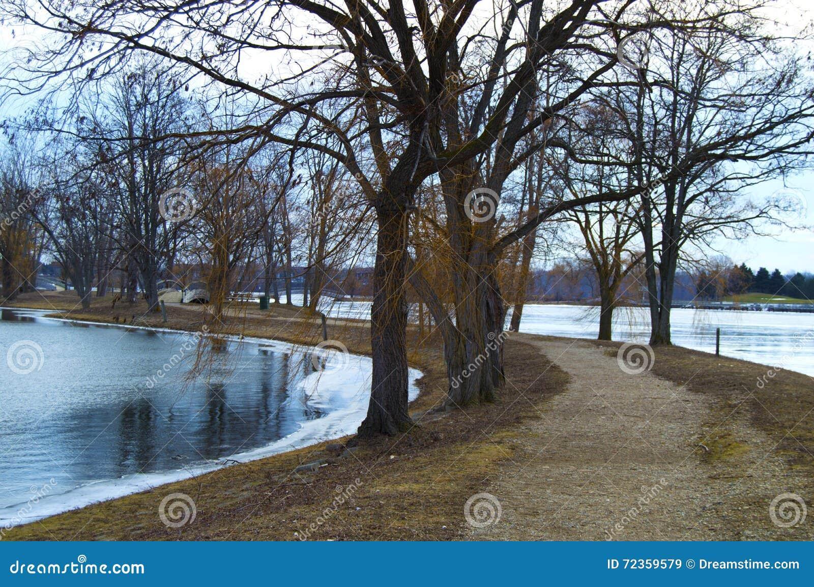 Zima jezioro