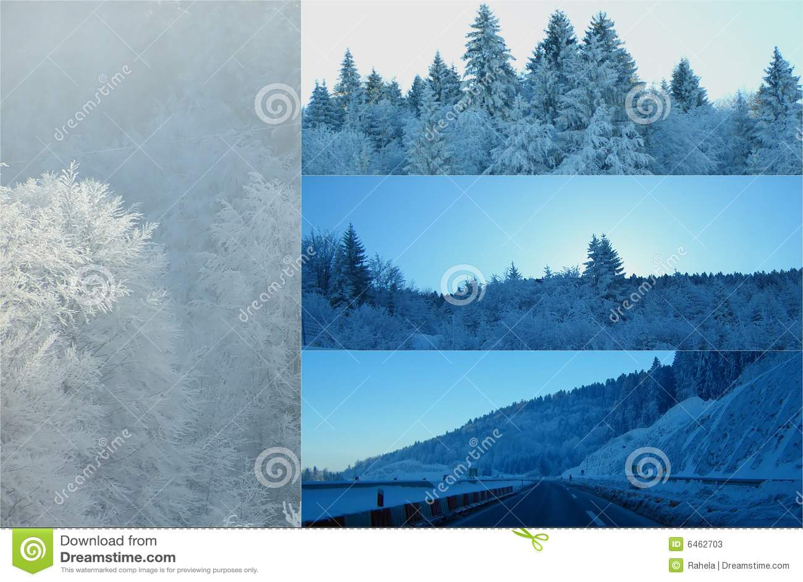 Zima kolaż