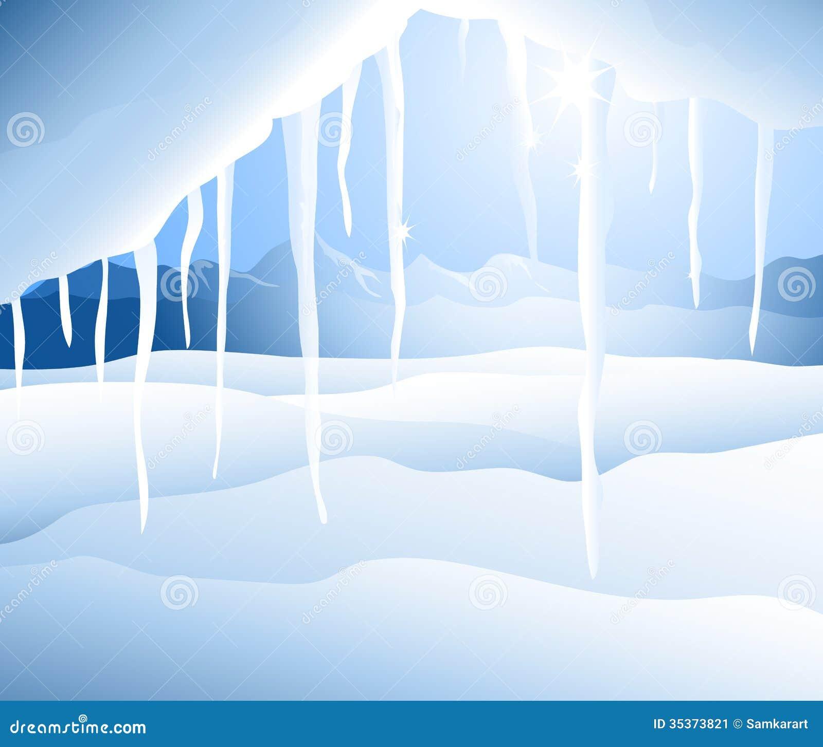 Zima krajobraz (sopel) -