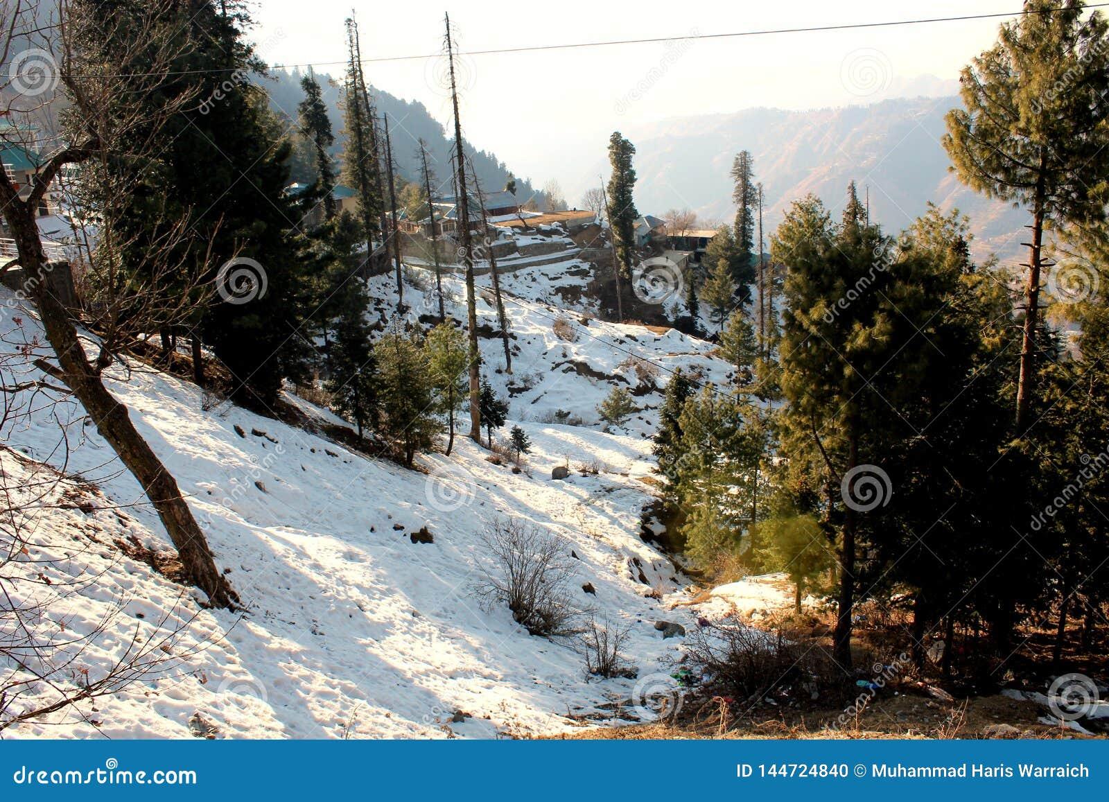 Zima krajobraz w Pakistan